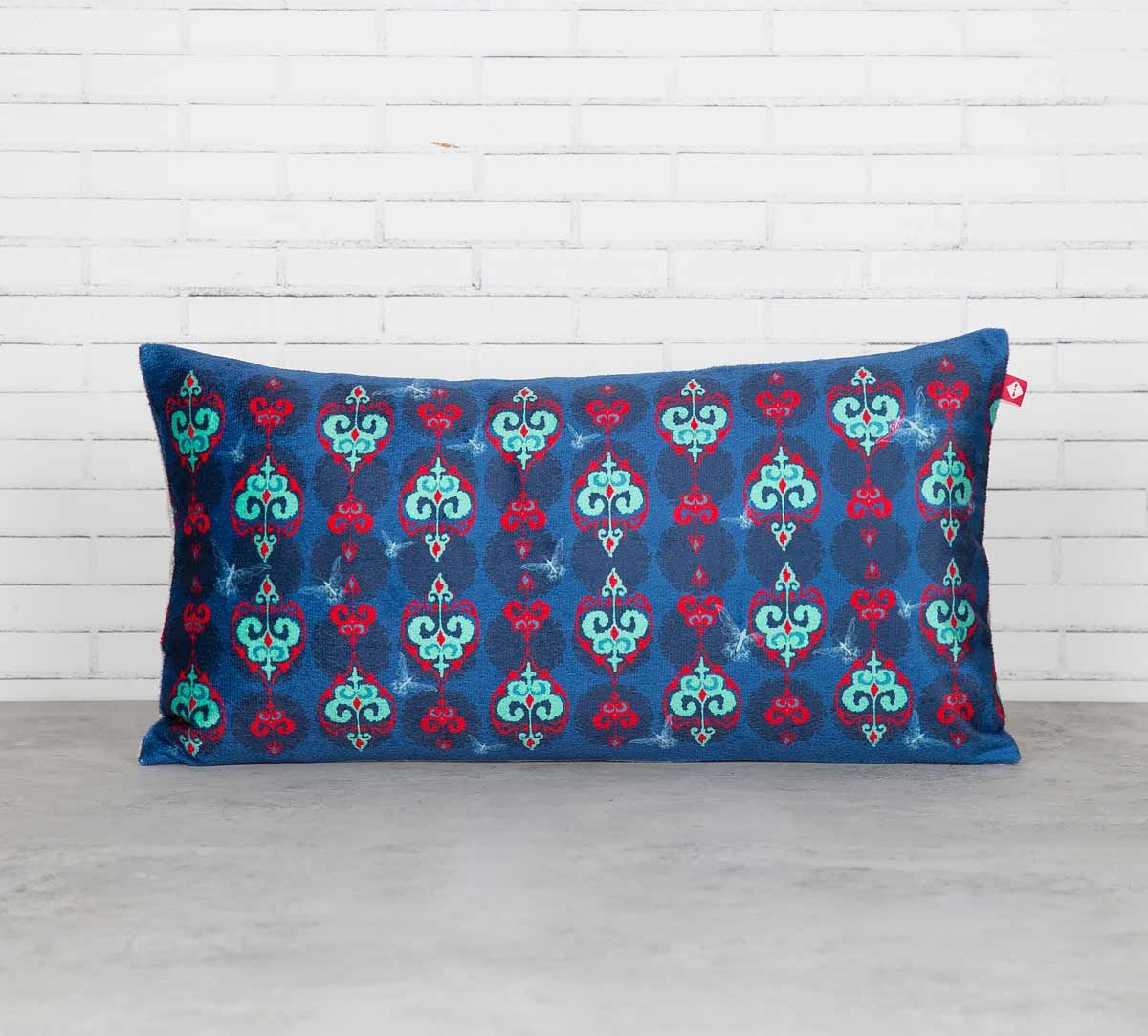 India Circus Inverted Spade Arrows Blended Velvet Cushion Cover
