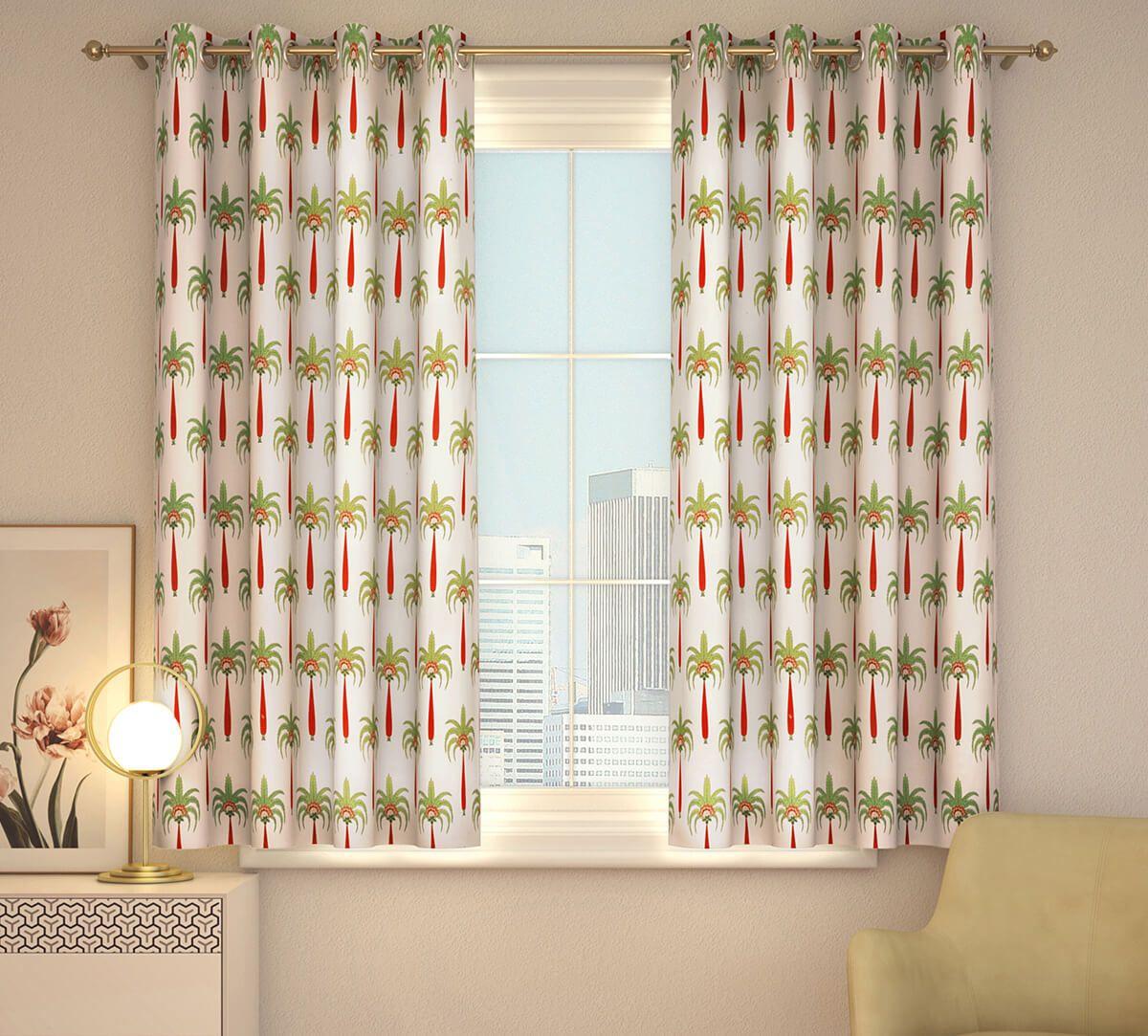 India Circus Island Palms Window Curtain