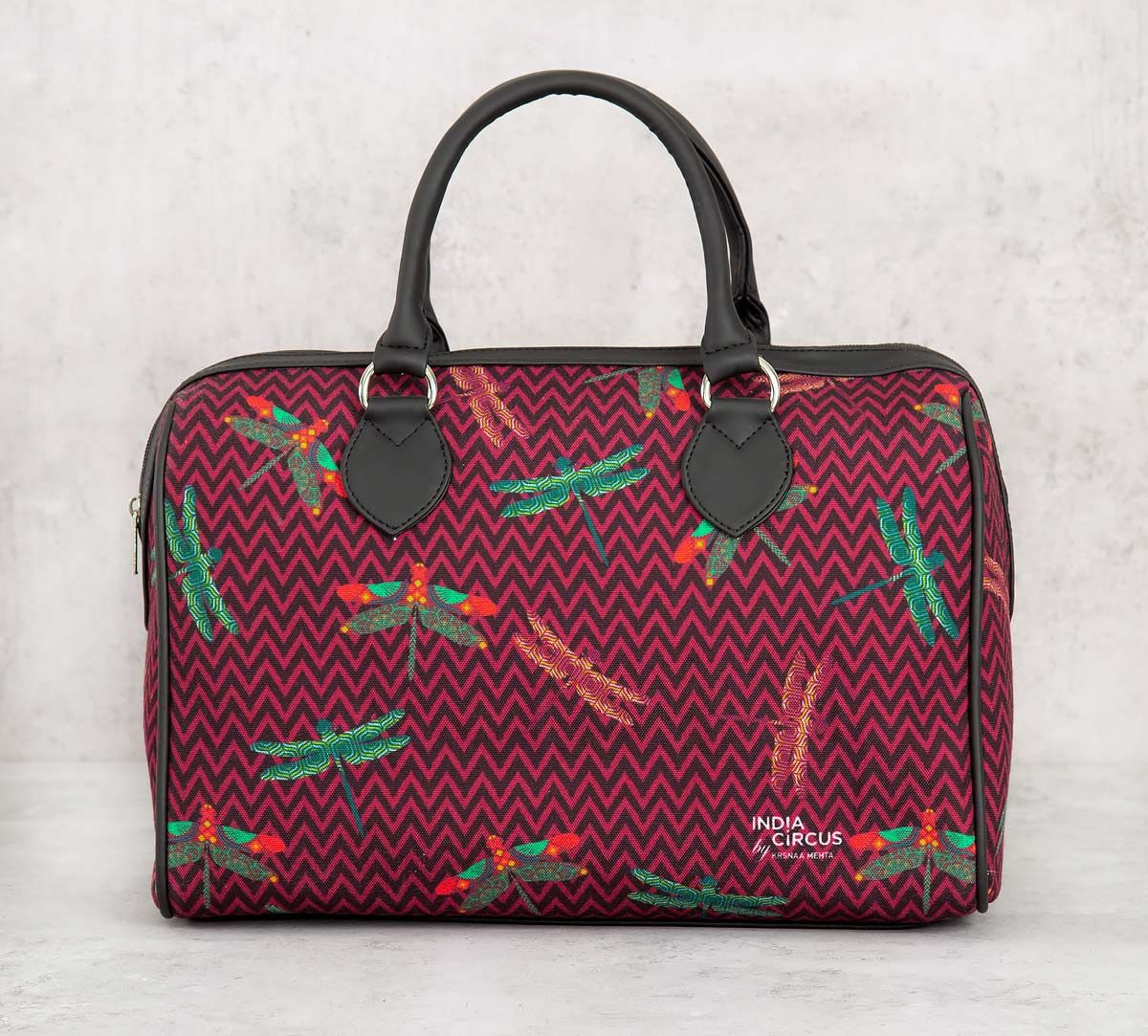 India Circus Jam Chevron Butterflies Duffle Bag