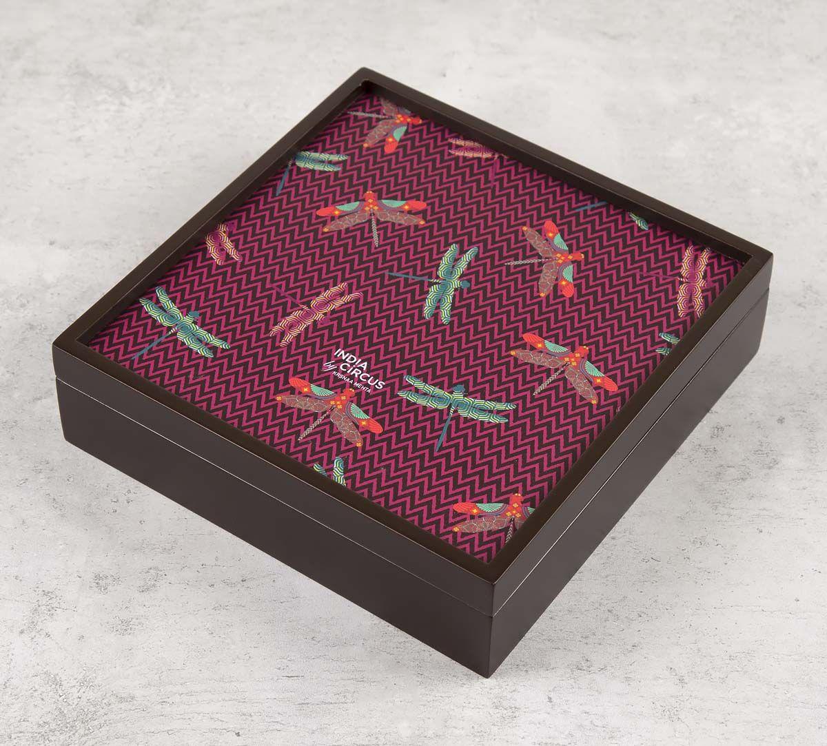 India Circus Jam Chevron Butterflies Storage Box