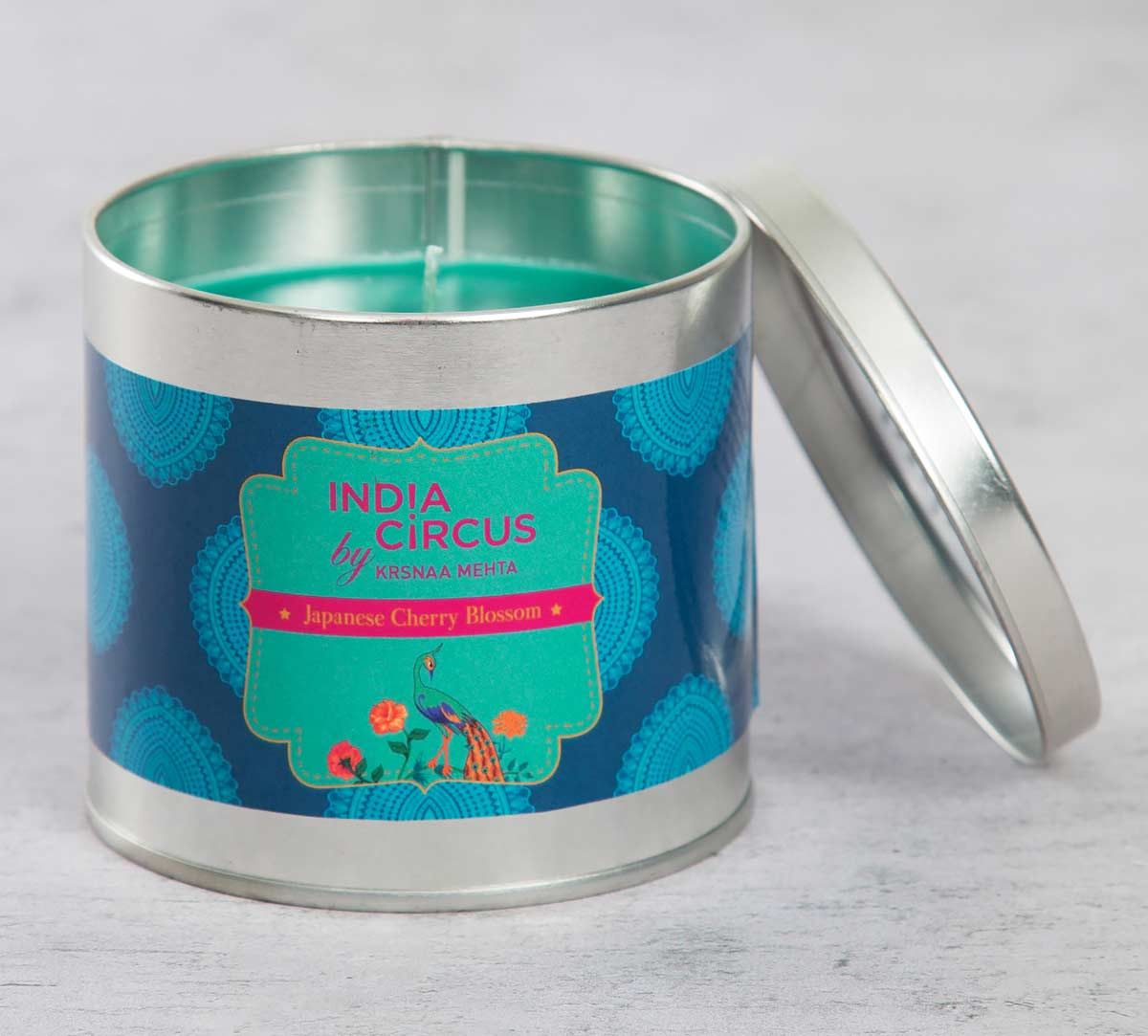 India Circus Japanese Cherry Blossom Tin Candle