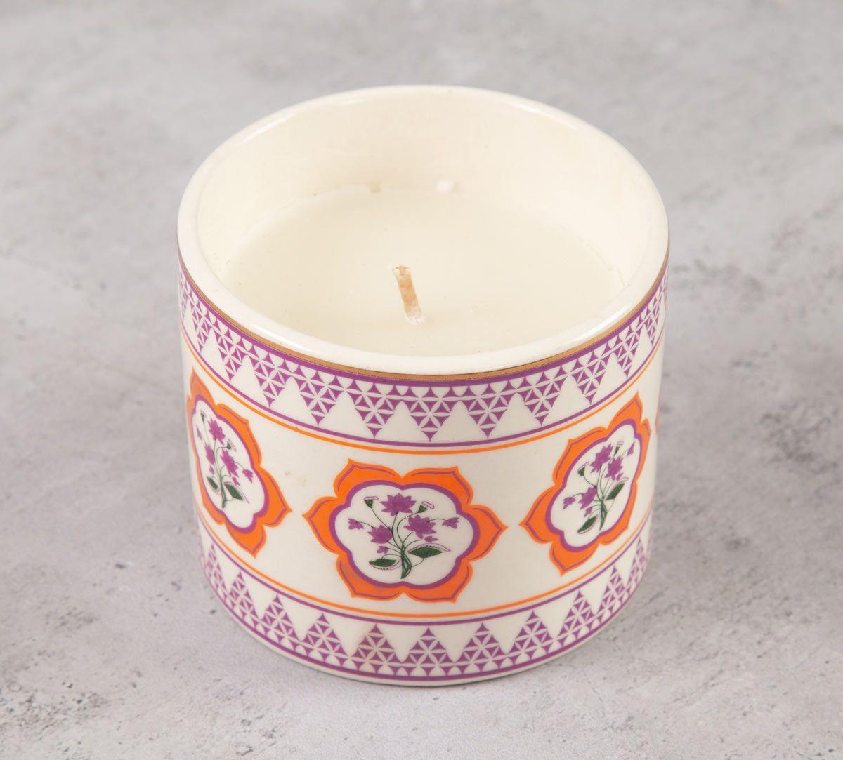 India Circus Lattice Lotus Candle Votive