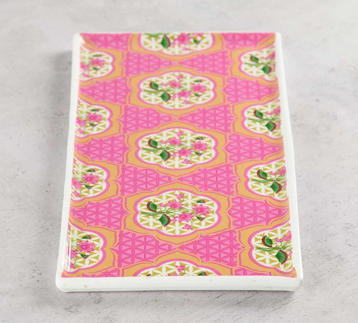 India Circus Lattice Lotus Serving Platter