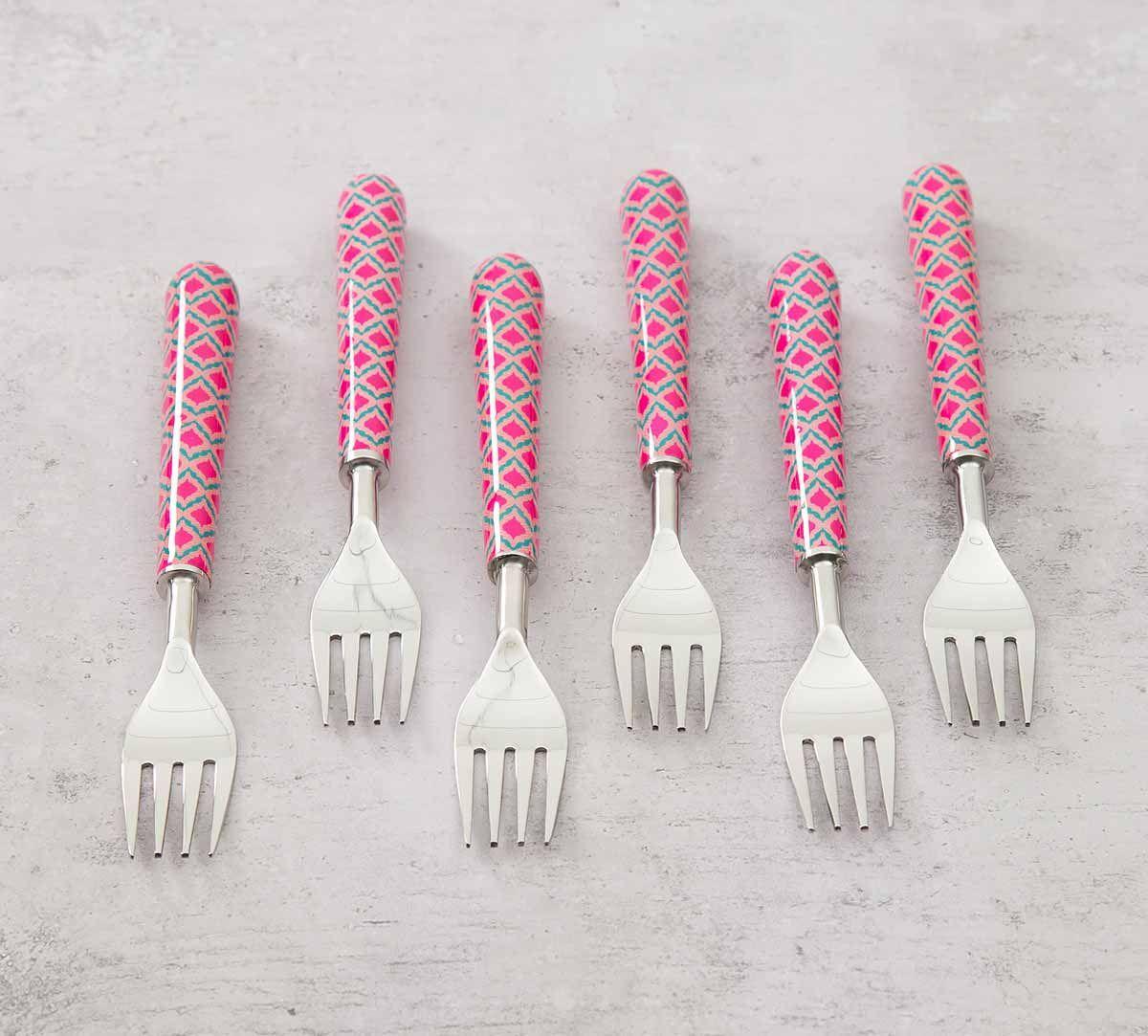 India Circus Lattice Practice Fruit Fork Set of 6