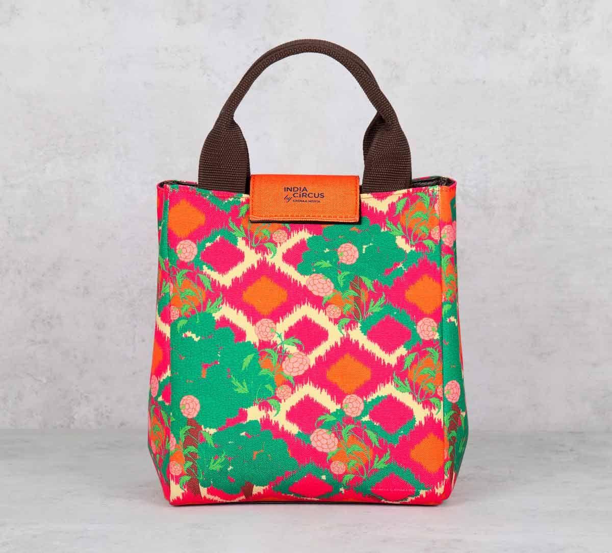 India Circus Lattice Vermillion Lunch Bag