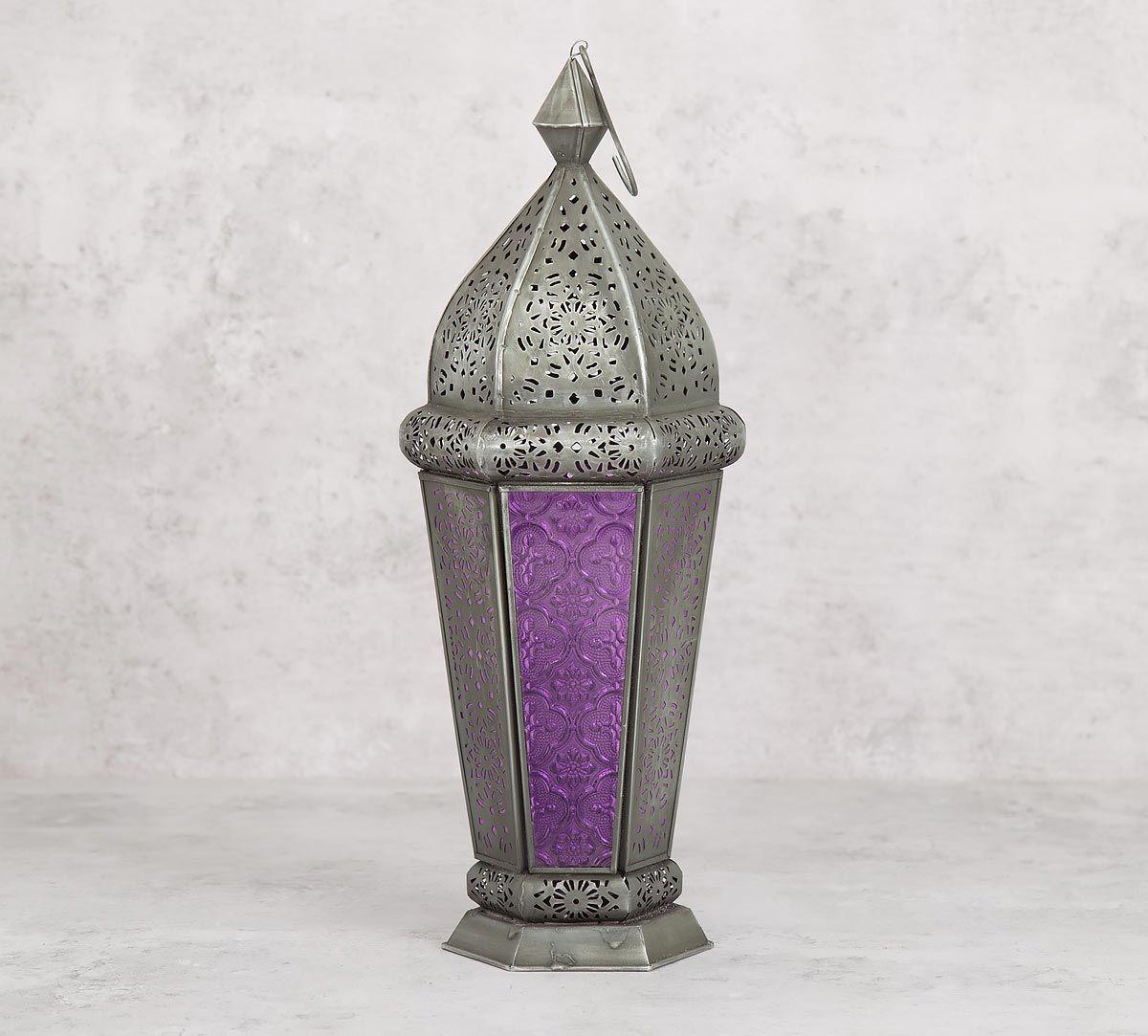 India Circus Lavender Minar Candle Lantern