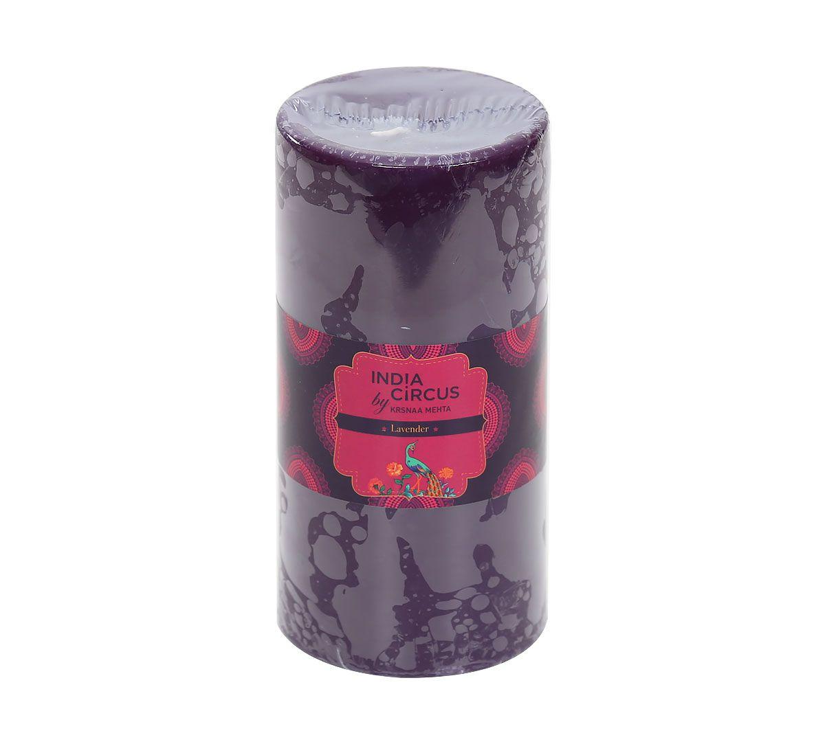 India Circus Lavender Pillar Candle