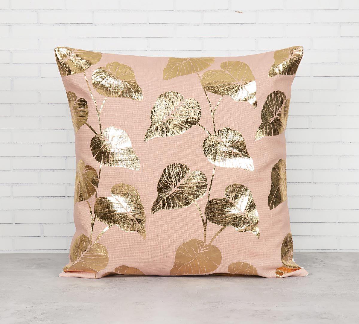 India Circus Leaf Creeper Foil Cushion Cover