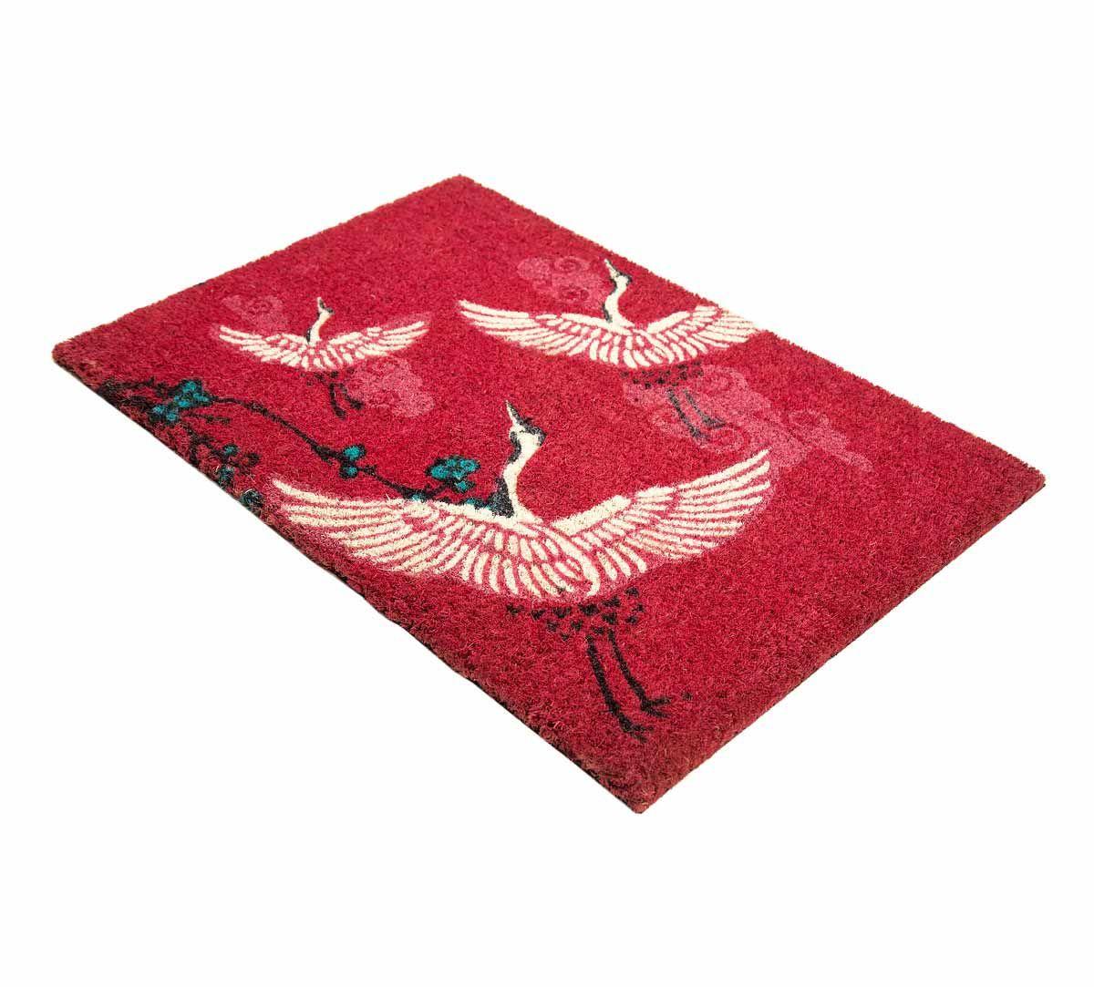India Circus Legend of the Cranes Red Doormat