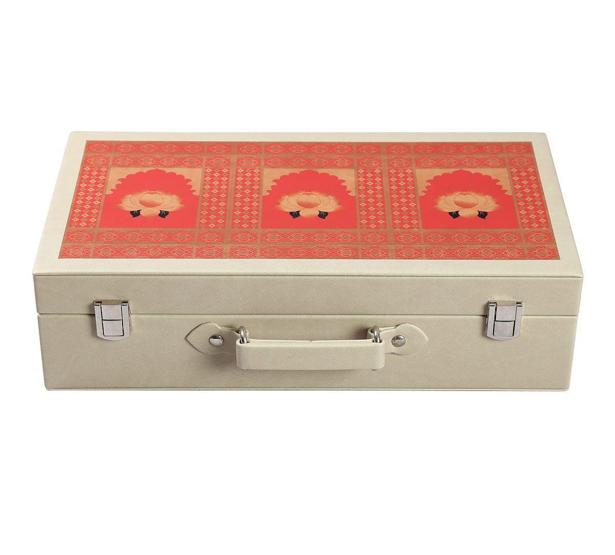 India Circus Lotus Darbar Leather Watch and Eyewear Box