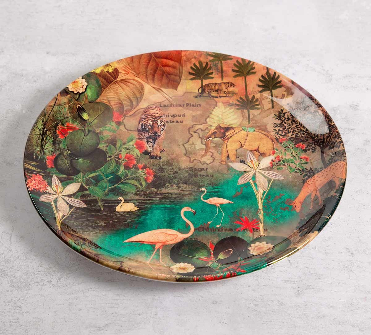 India Circus Mapping Animals 10 inch Decorative and Snacks Platter