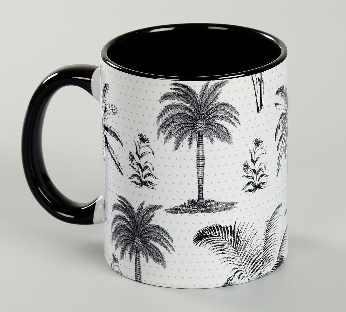 India Circus Monochrome Palms Coffee Mug