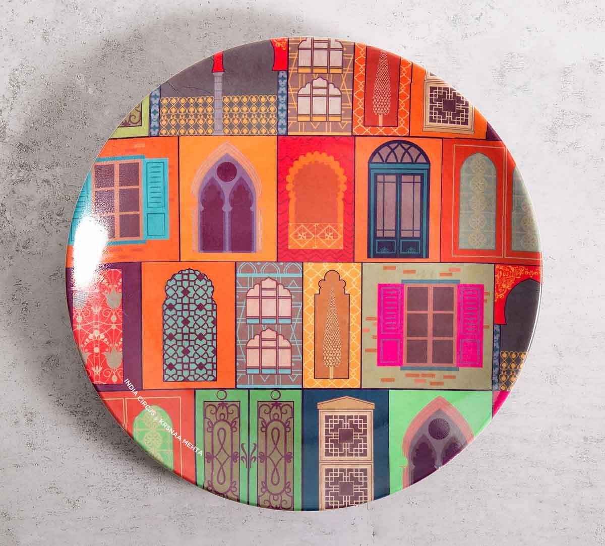 India Circus Mughal Doors Reiteration 10 incn Decorative and Snacks Platter