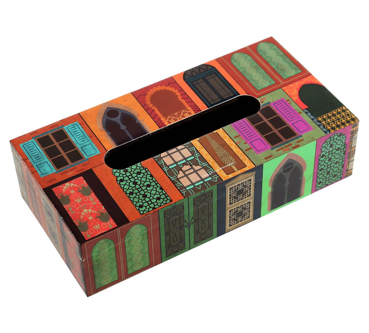 India Circus Mughal Doors Reiteration Tissue Box Holder