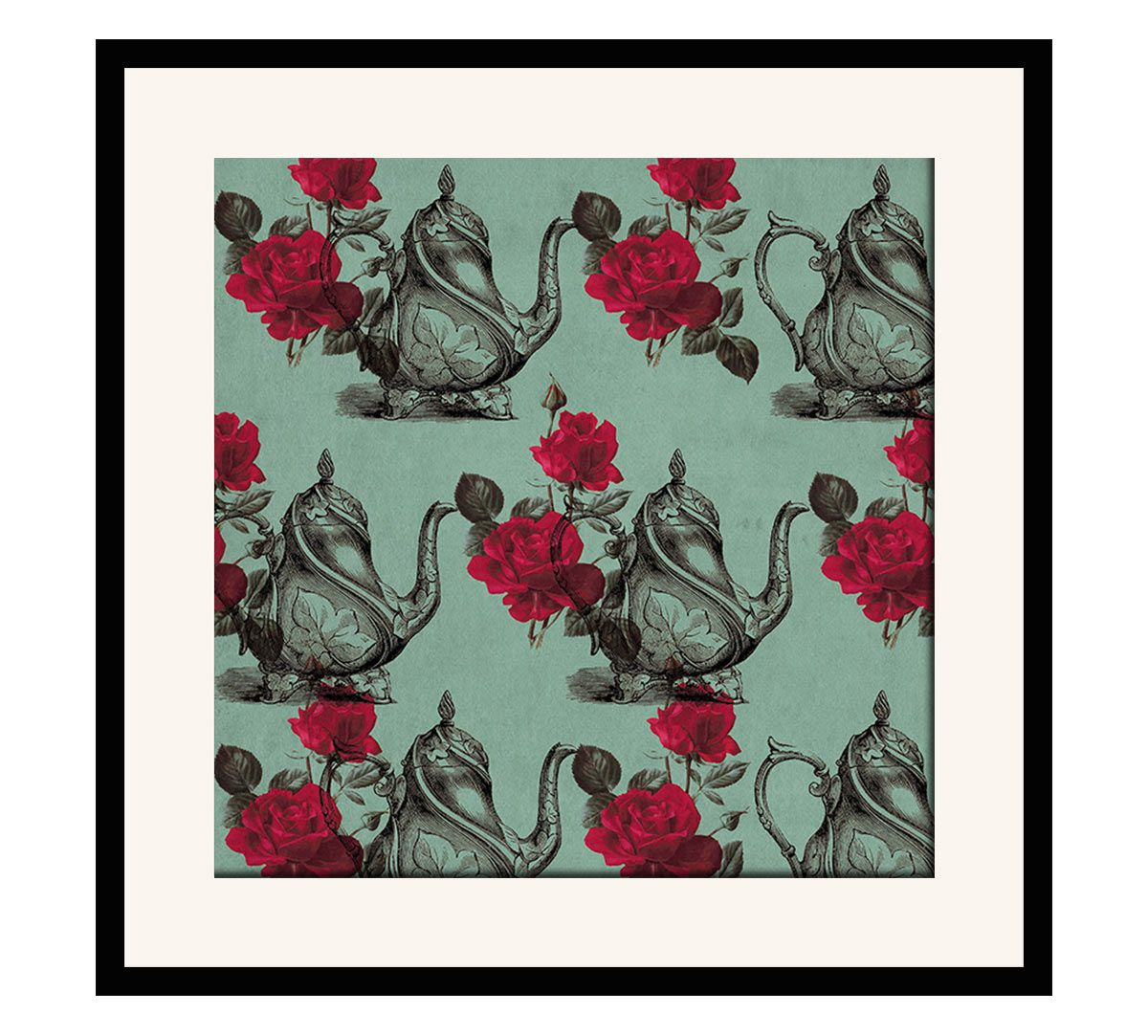 India Circus Mystic Rose Kettles 16 x 16 and 24 x 24 Framed Wall Art