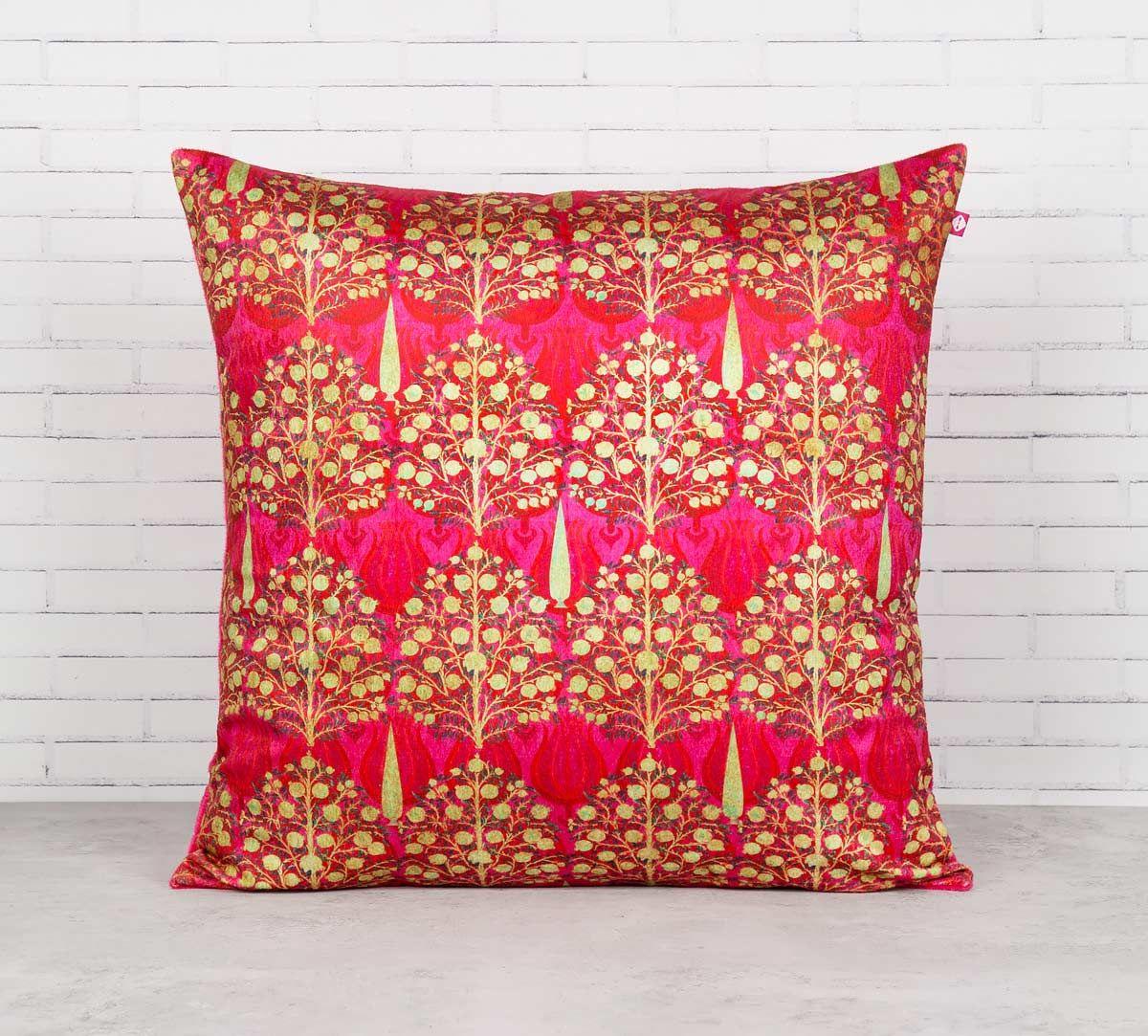 India Circus Mystical Pomegranate Blended Velvet Cushion Cover