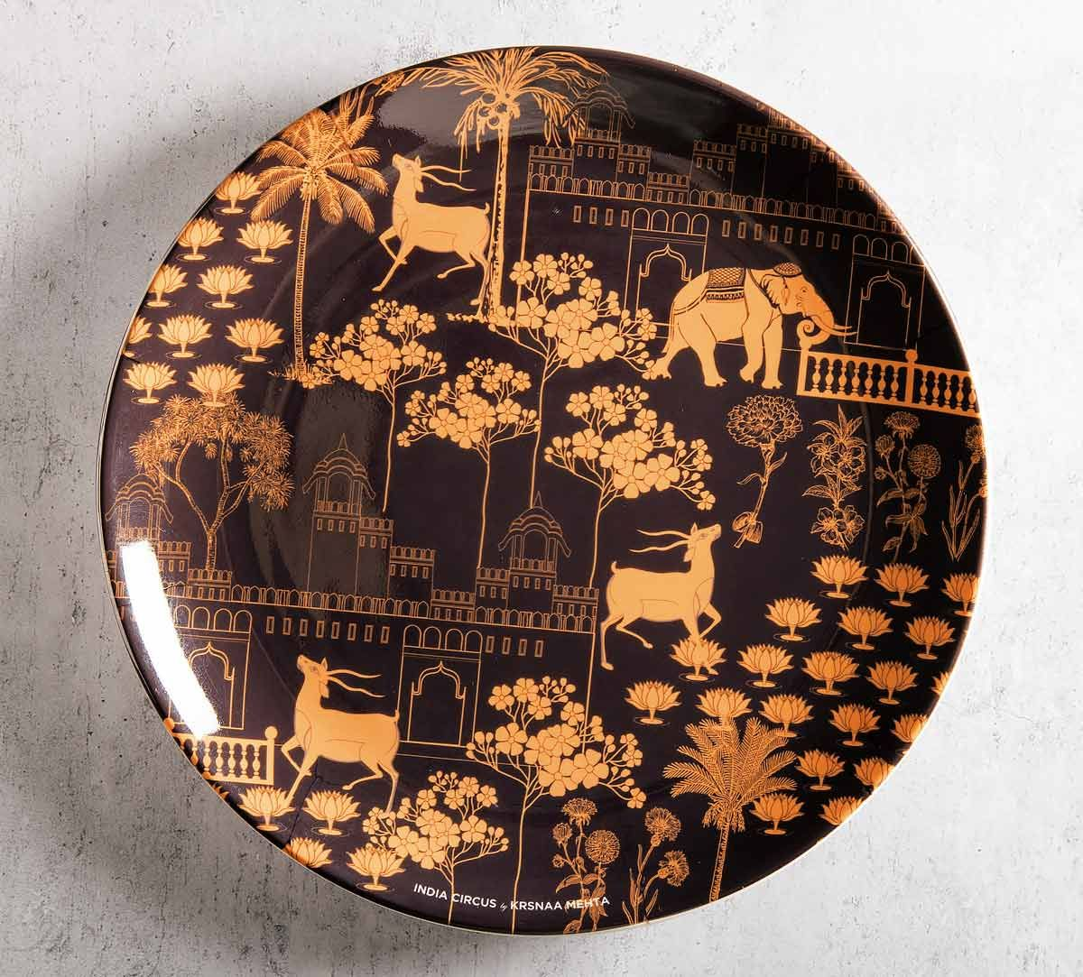 India Circus Palatial Courtyard 10 inch Decorative and Snacks Platter