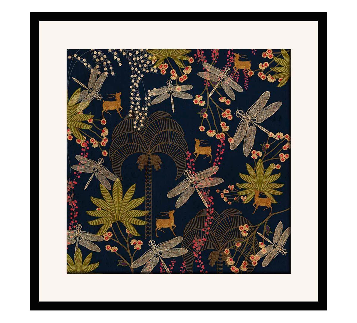 India Circus Palmeria Bloomer 16 x 16 and 24 x 24 Framed Wall Art