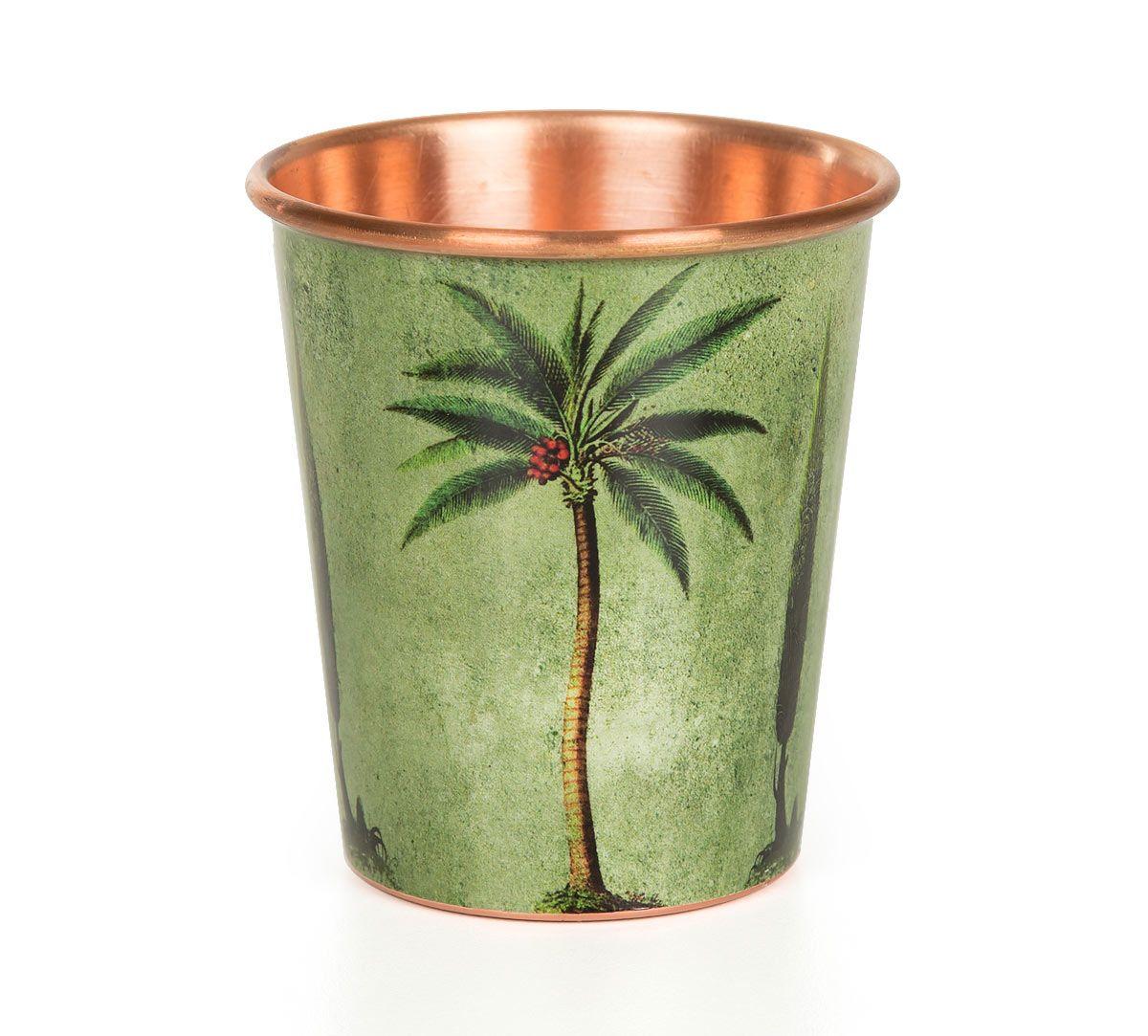 India Circus Palmeria Conifer Reiteration Small Copper Tumbler