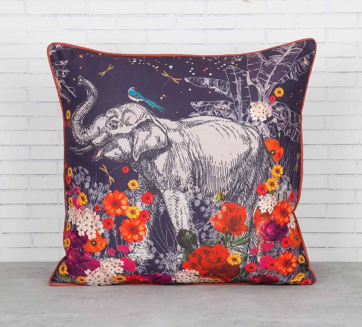 India Circus Paradise Blended Taf Silk Cushion Cover