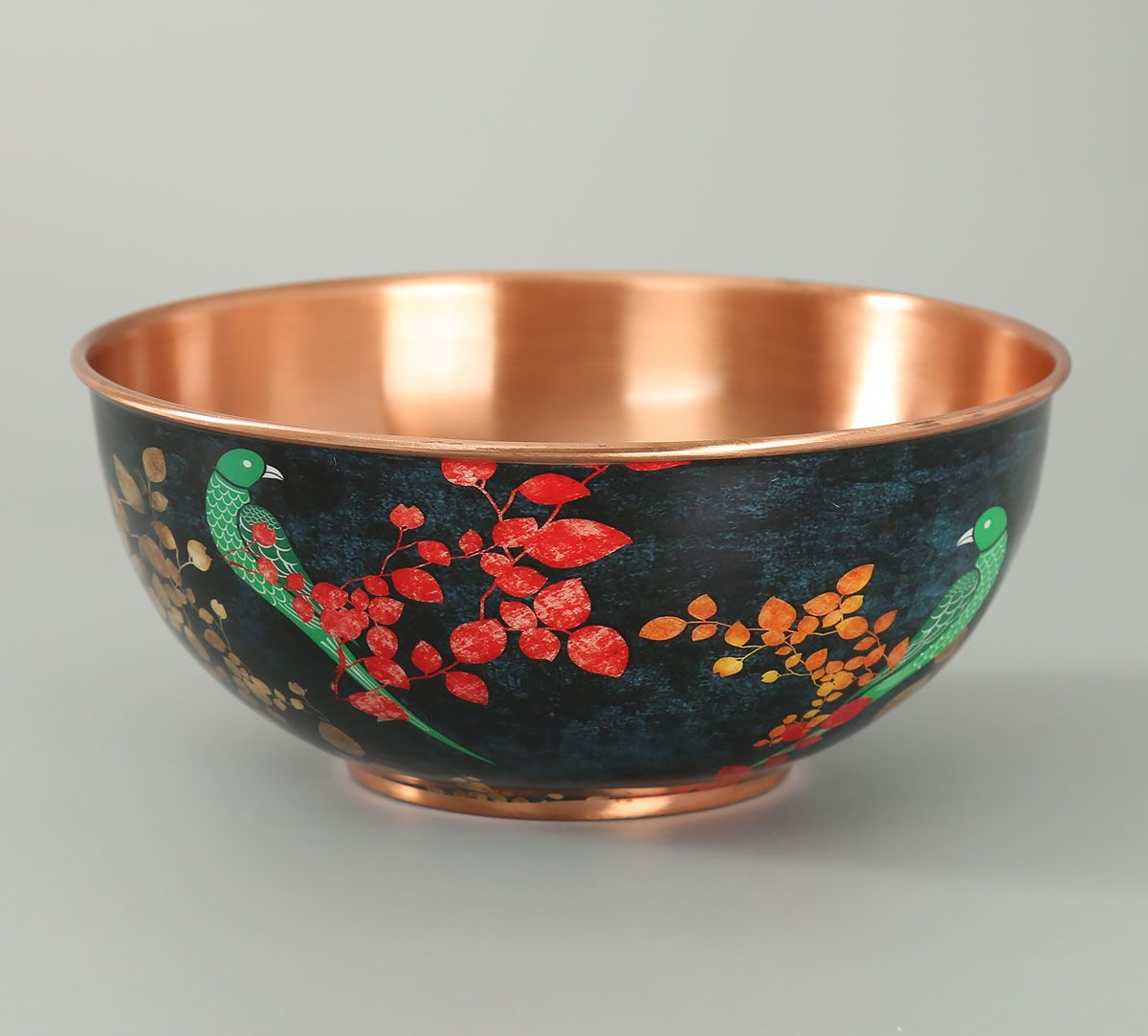 India Circus Parrots of the night Copper Bowl