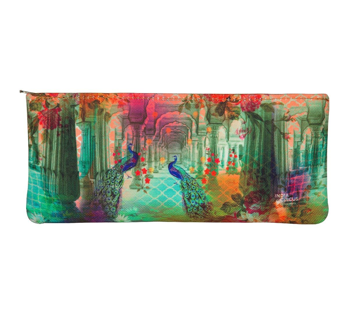 India Circus Peacock Dwar Small Utility Pouch