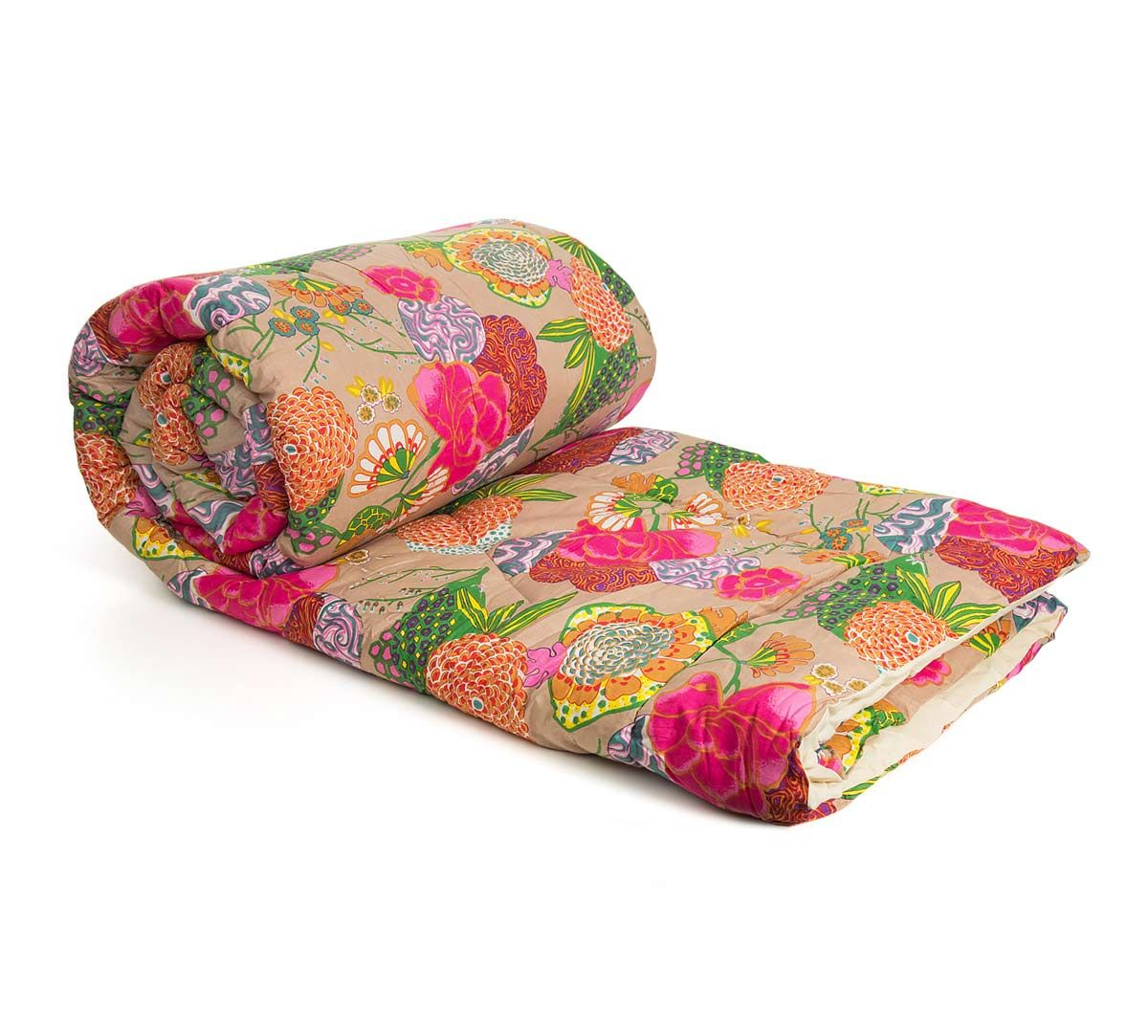 India Circus Phulari Cotton Quilt