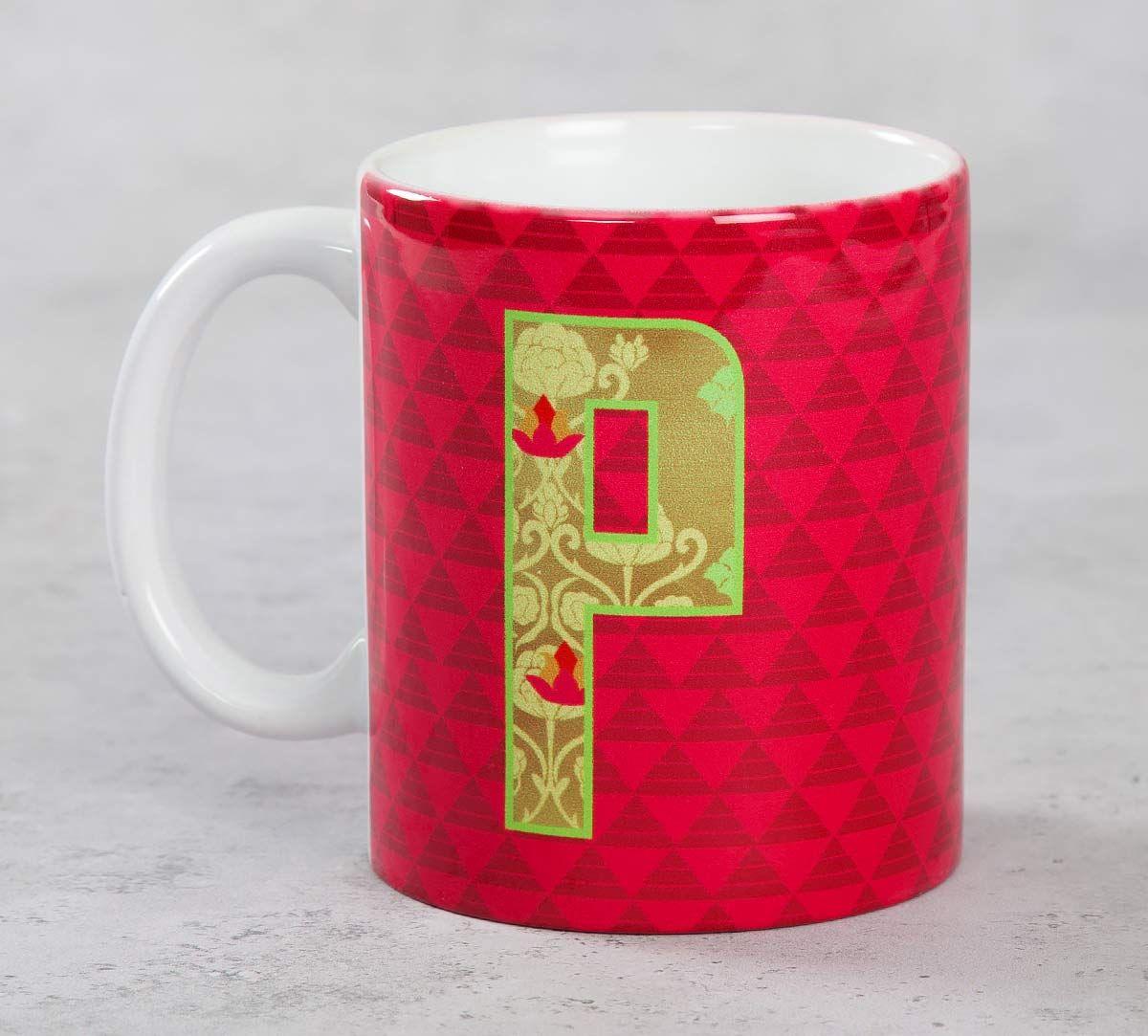 India Circus Pink Alphabet P Mug