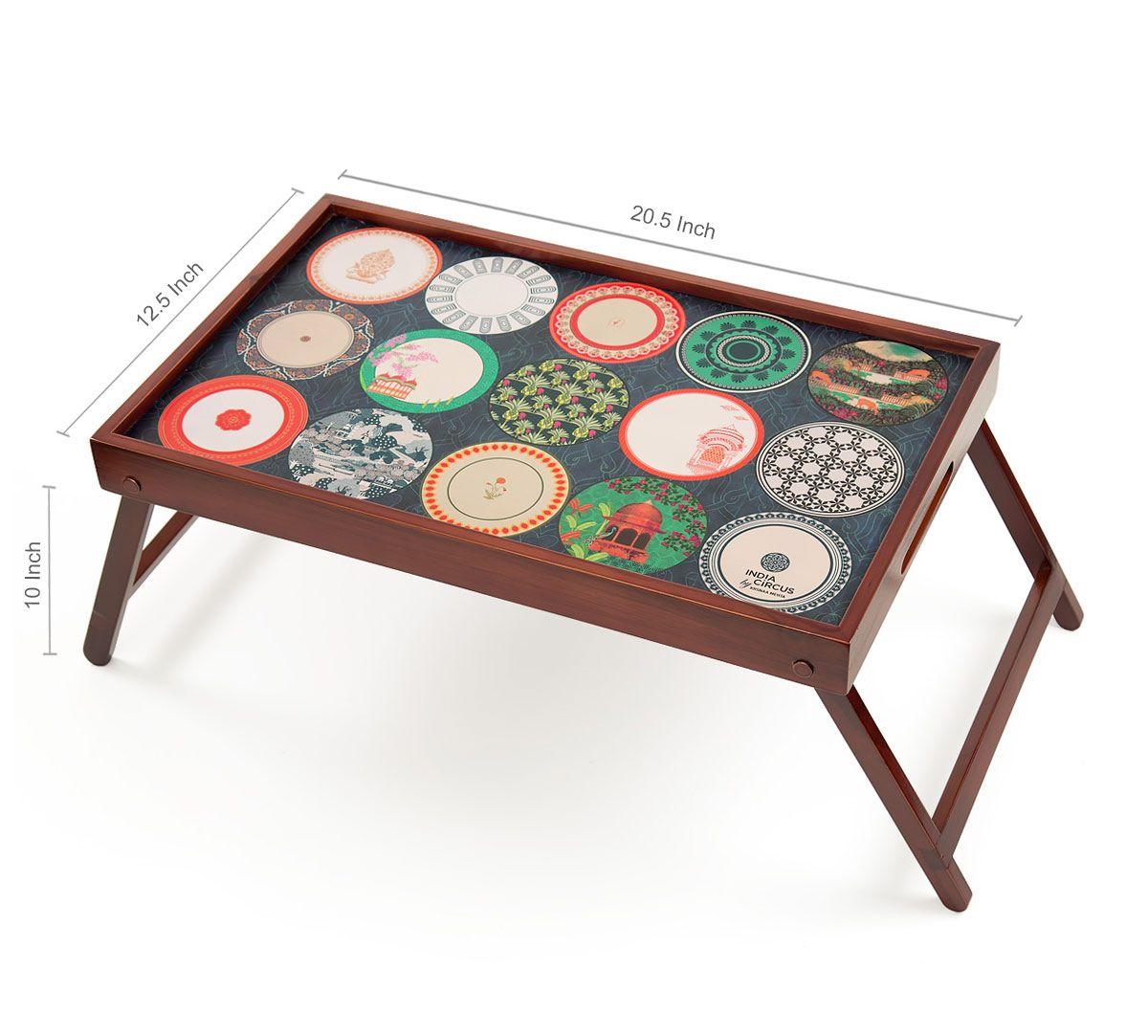 India Circus Platter Portrayal Breakfast Tray