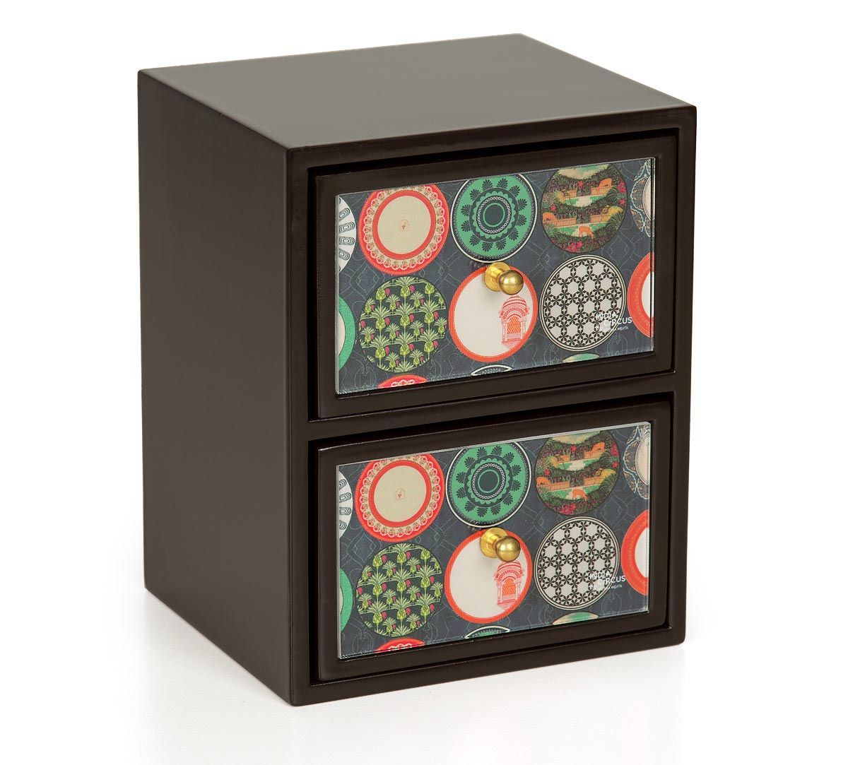 India Circus Platter Portrayal Chest of Drawer
