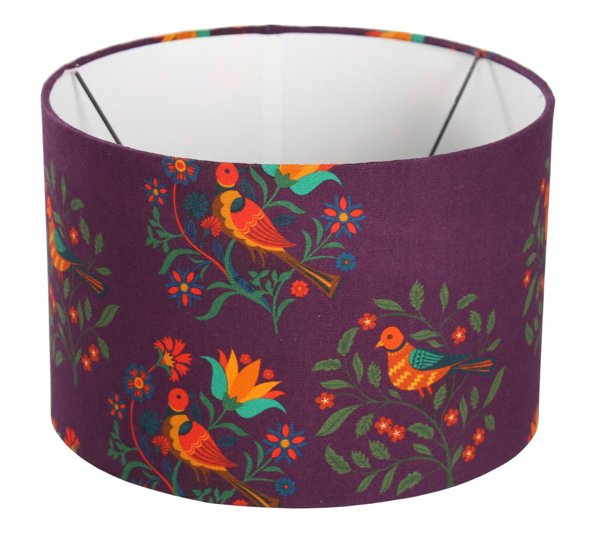 India Circus Psittacines Enquiry Cylindrical Lamp Shade