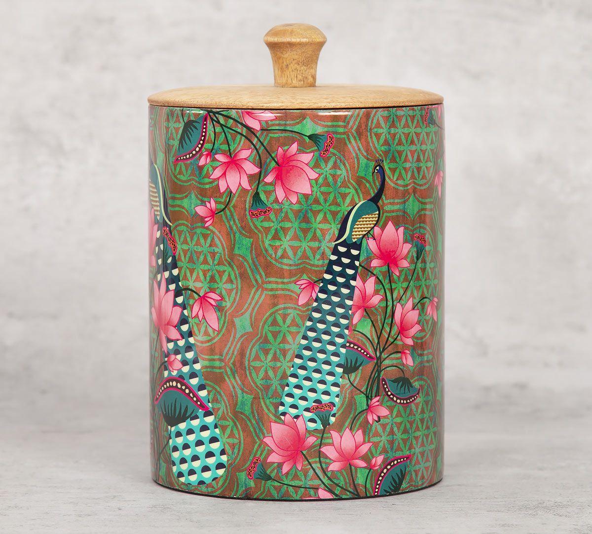 India Circus Realm of Pride Medium Wooden Jar
