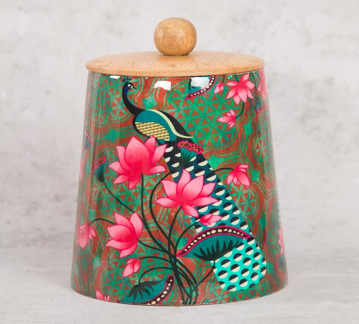 India Circus Realm of Pride Wooden Jar