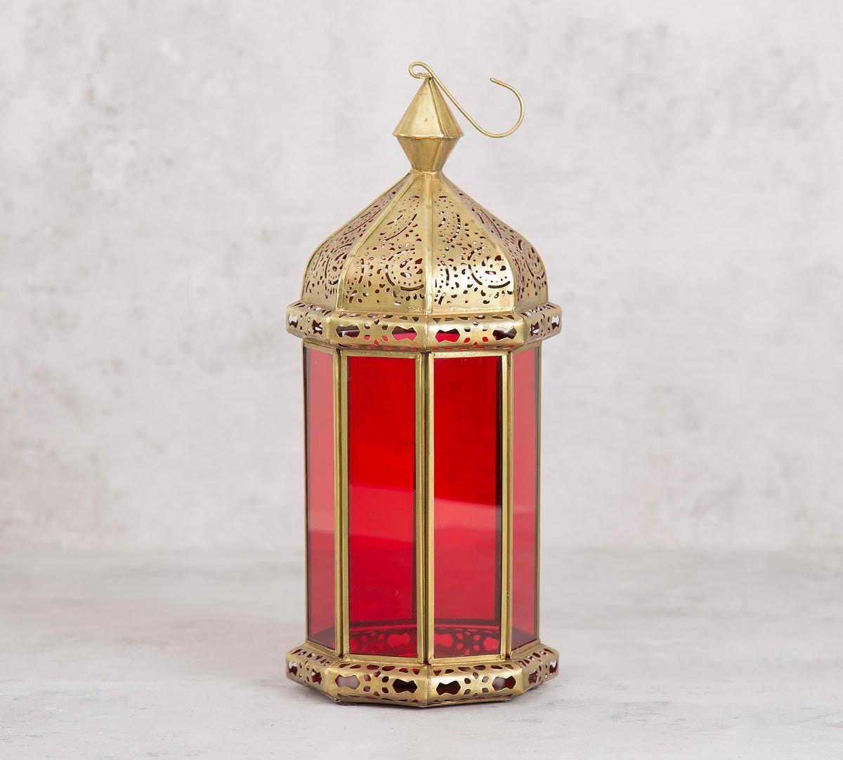 India Circus Red Minaret Candle Lantern