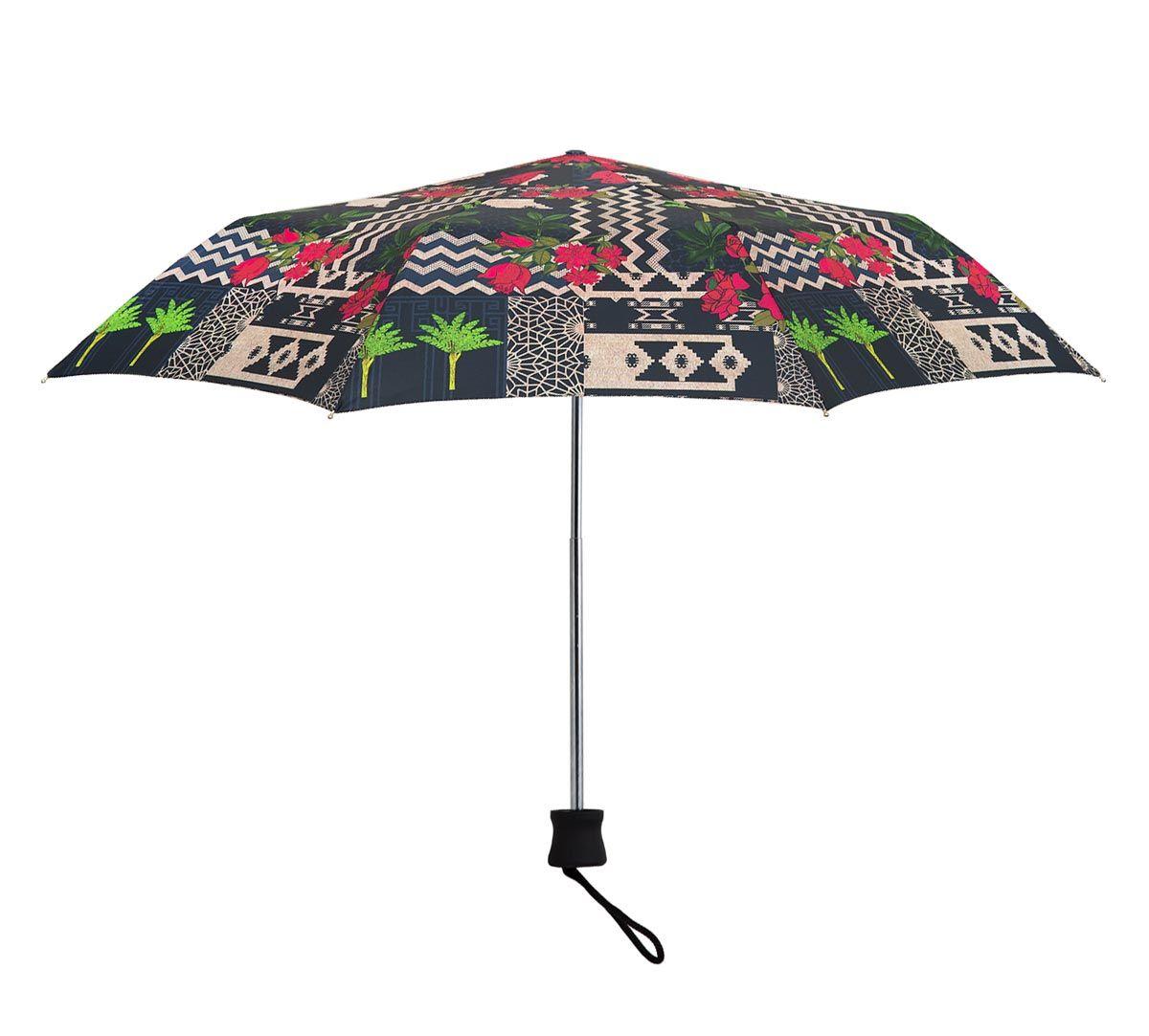 India Circus Rose Garden Maze 3 Fold Umbrella