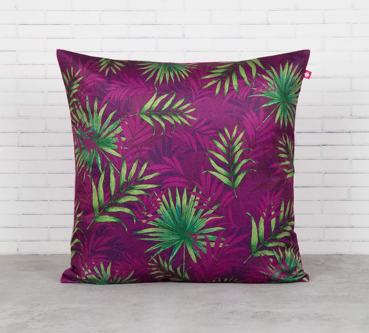 India Circus Sangria Tropical Fall Blended Velvet Cushion Cover