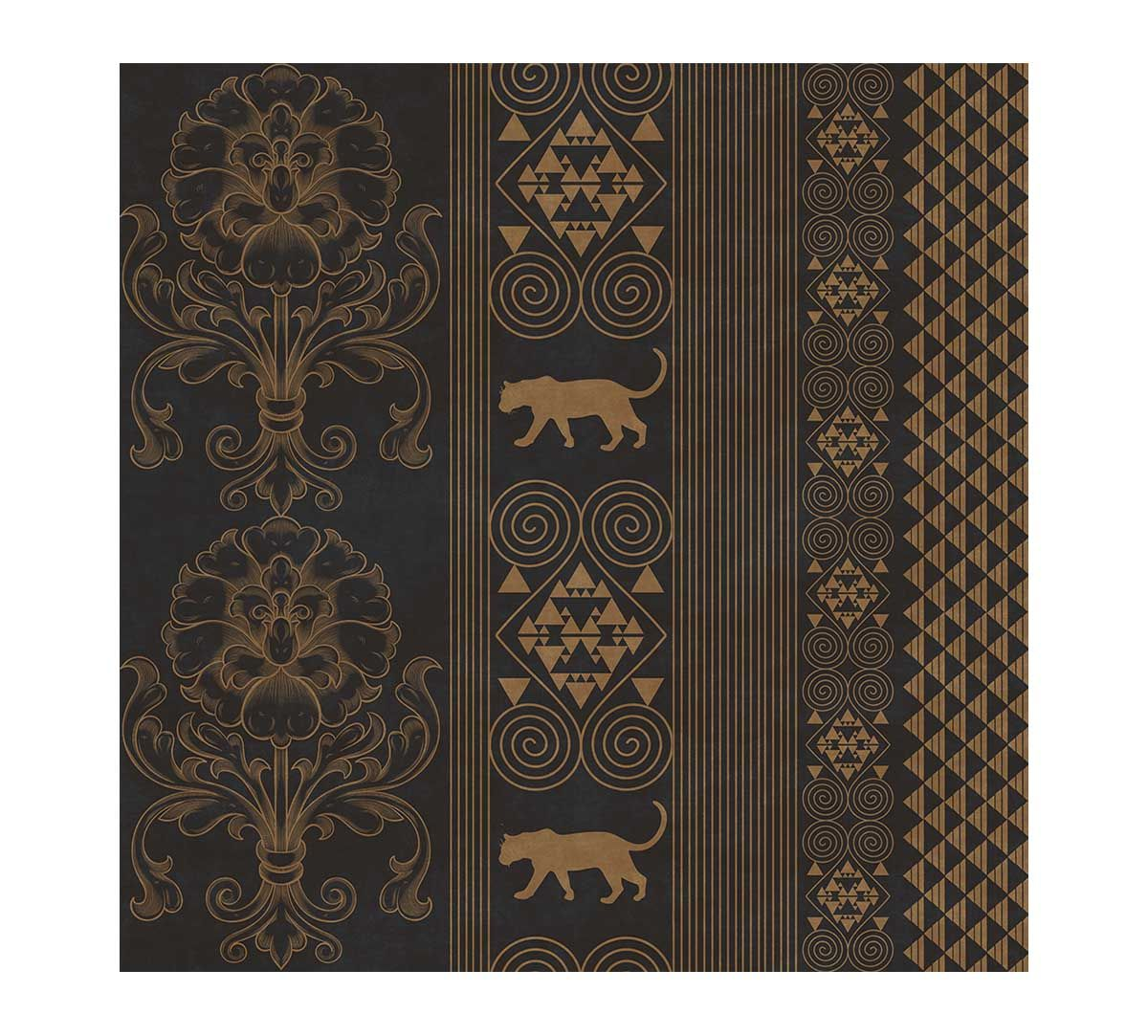 India Circus Shimmering Scriptures of the Jaguar Wallpaper