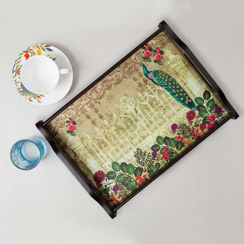 India Circus Song of the Peacock Tray