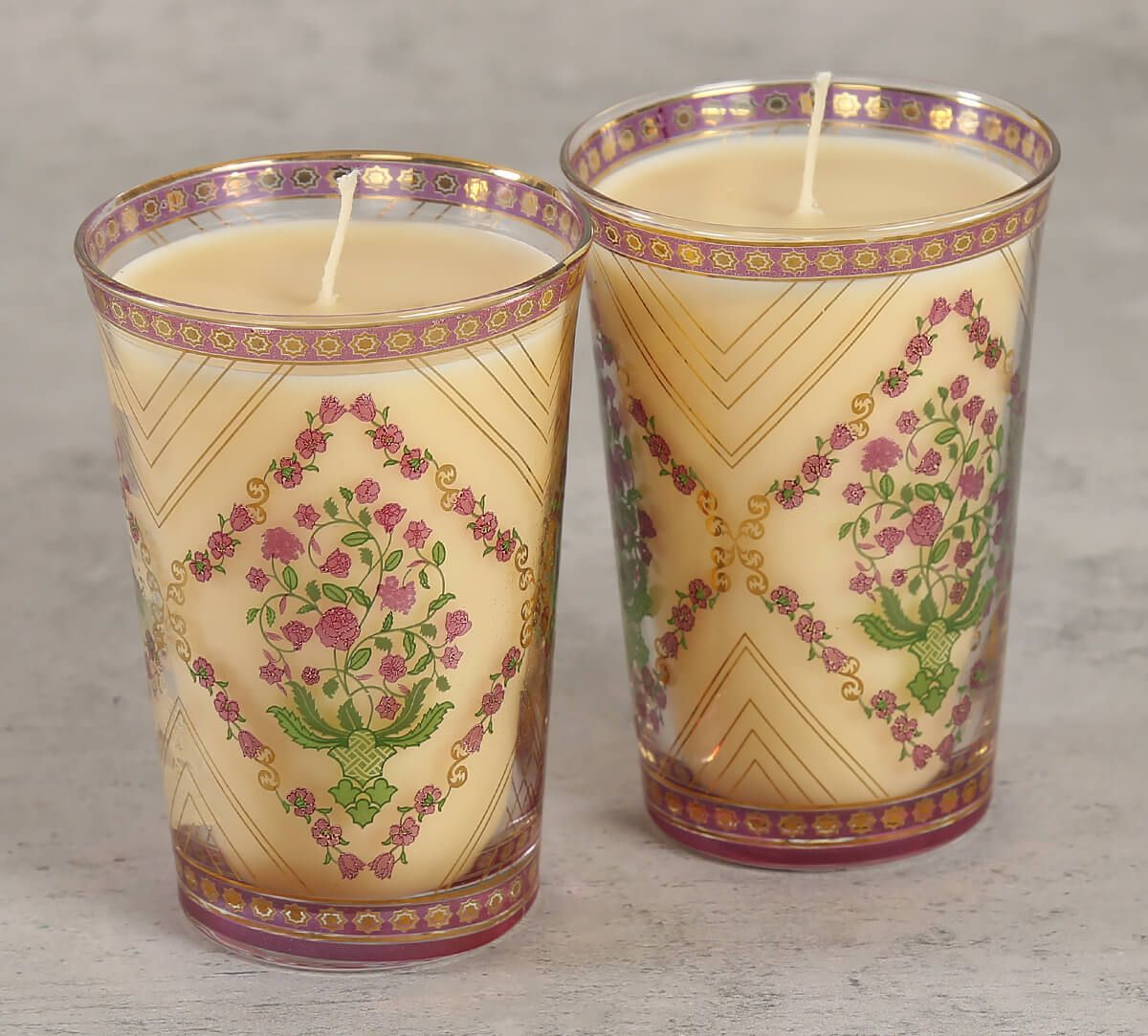 India Circus Spring Bloom Candle Votive