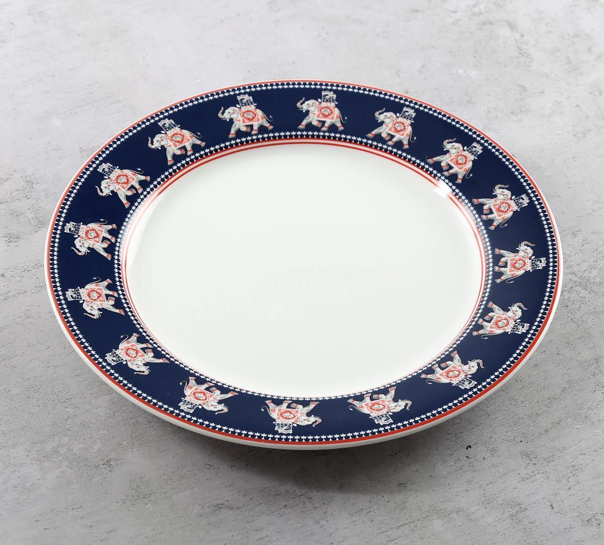 India Circus Swirling Safari Dinner Plate
