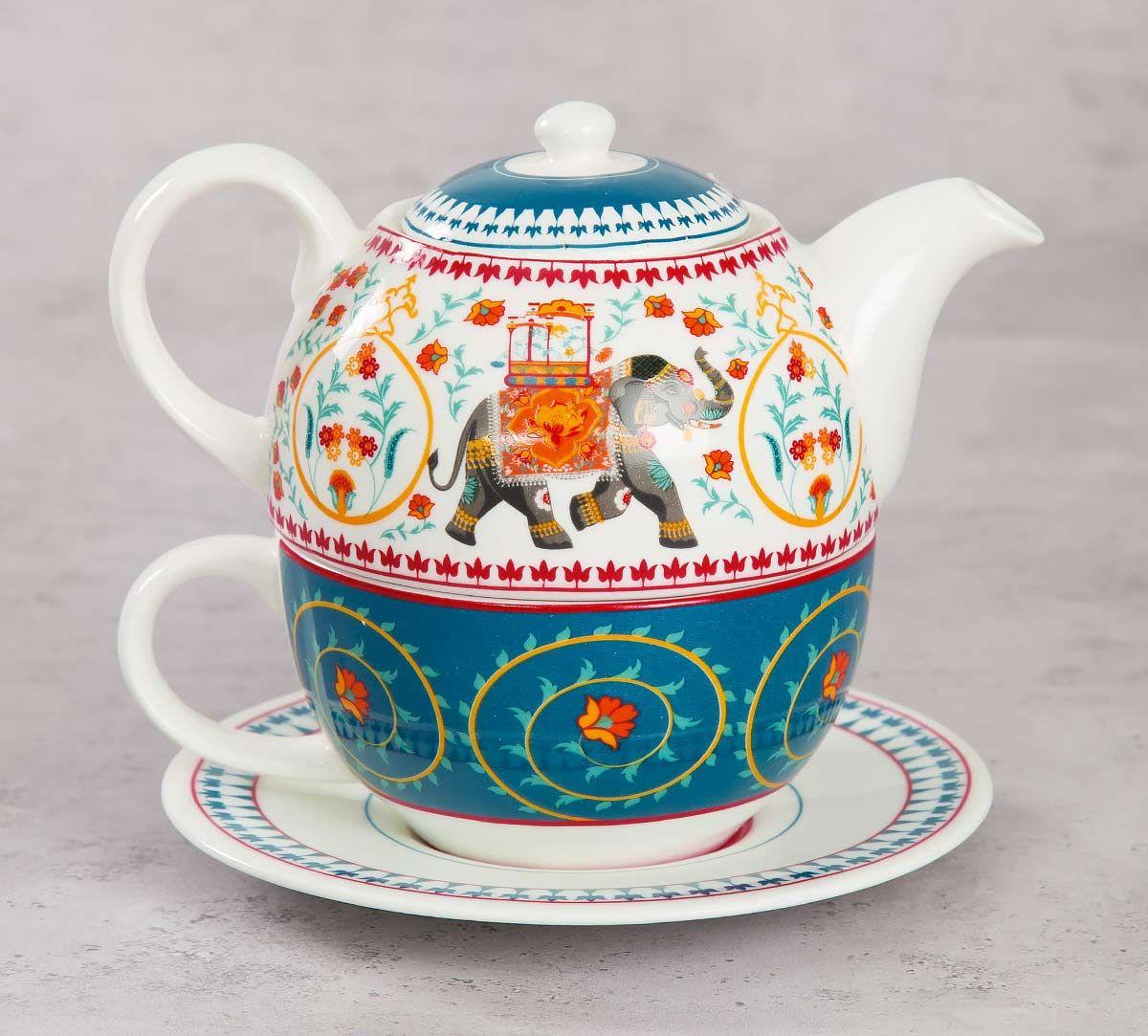 India Circus Swirling Safari Tea for One