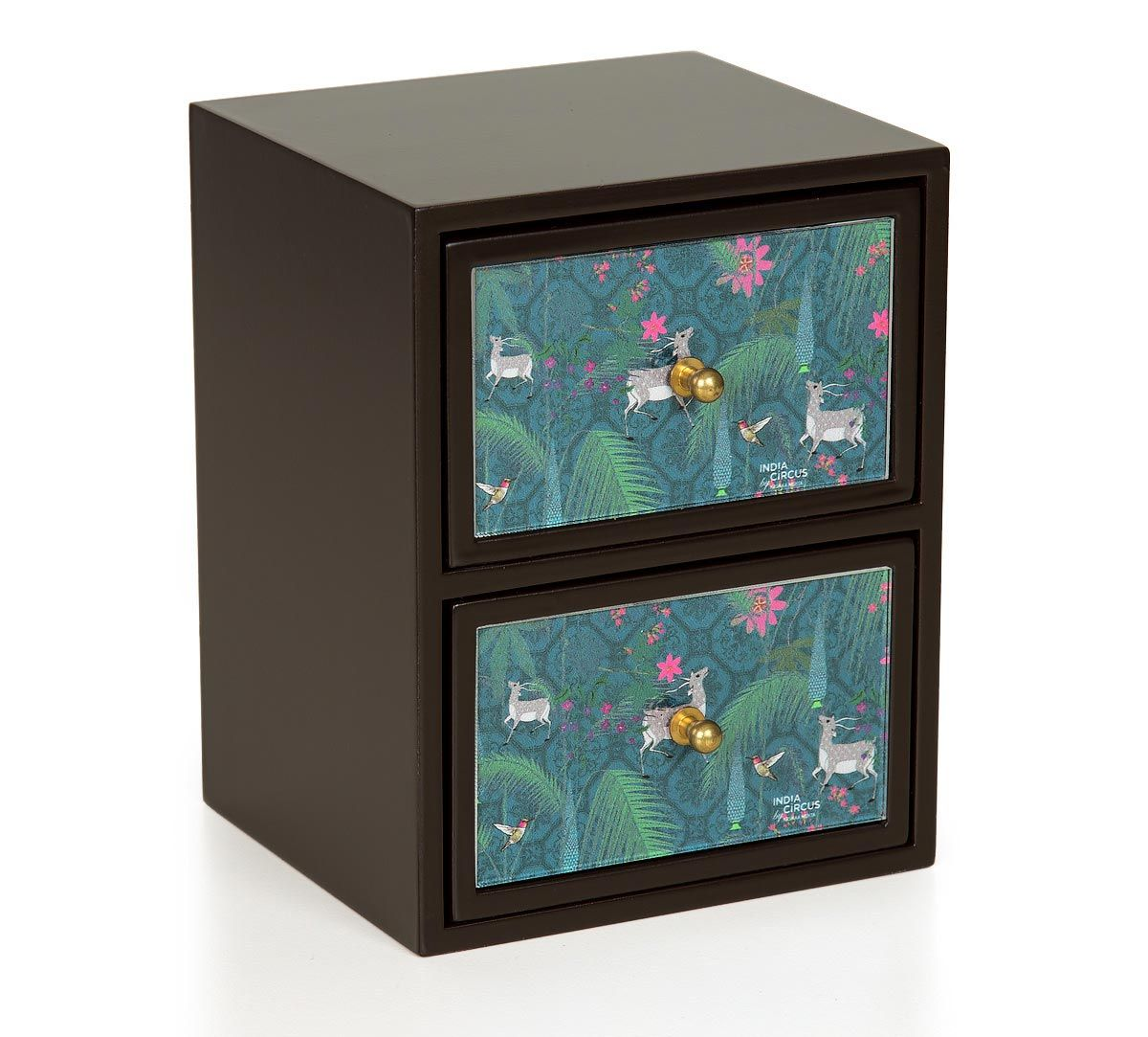 India Circus Teal Forest Fetish Chest of Drawer
