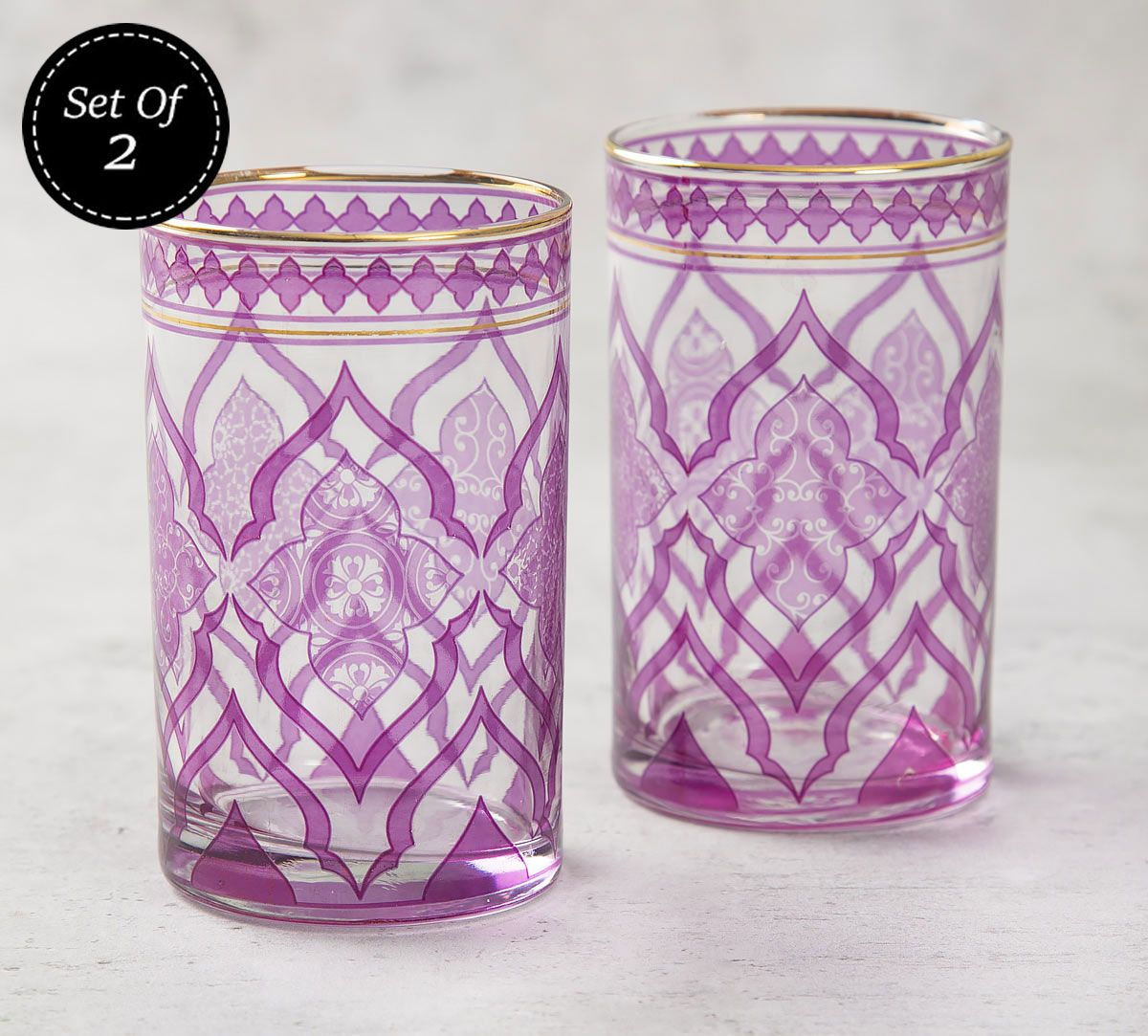 India Circus The Morning Glory Small Glass Tumbler (Set of 2)