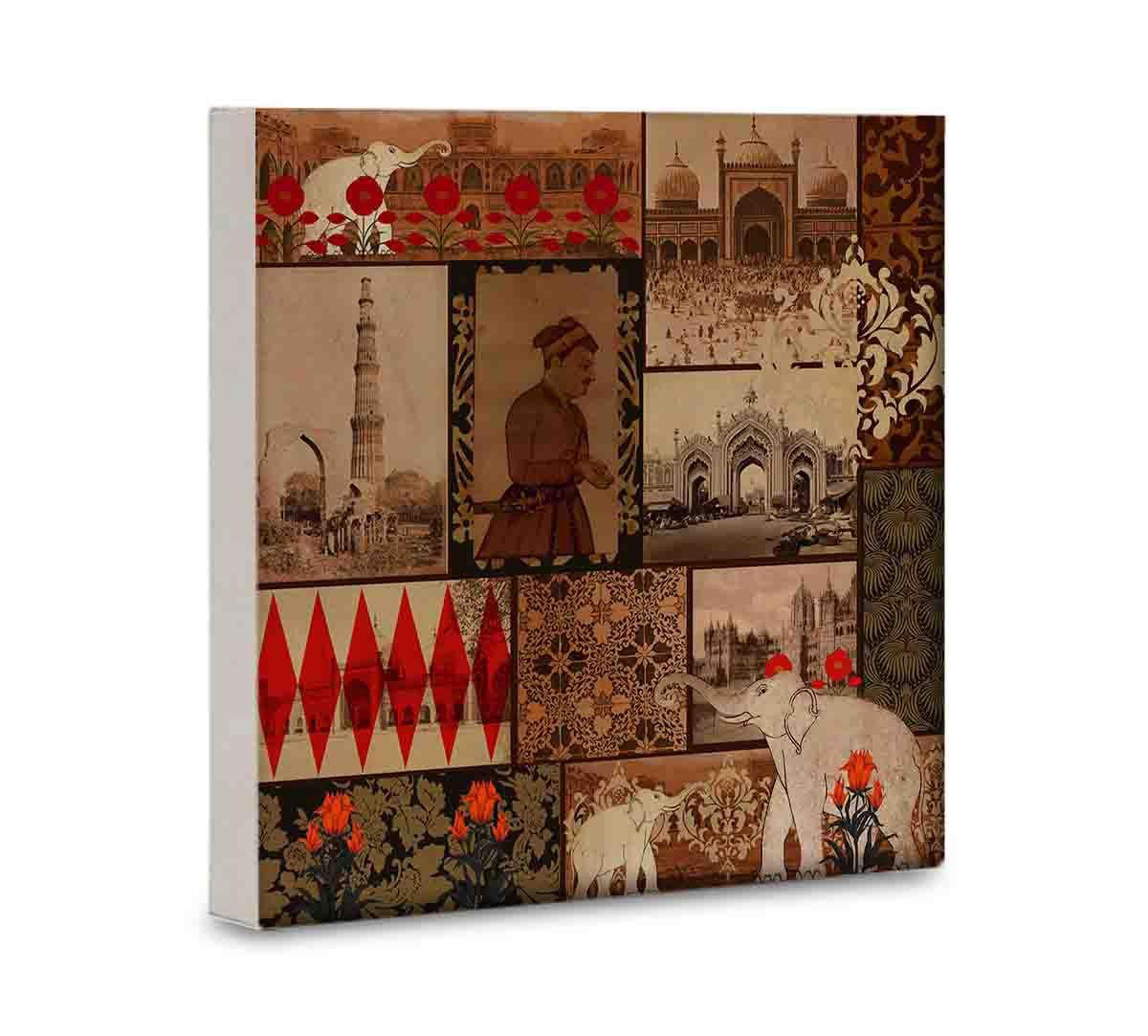 India Circus The Mughal Era 16x16 and 24x24 Canvas Wall Art