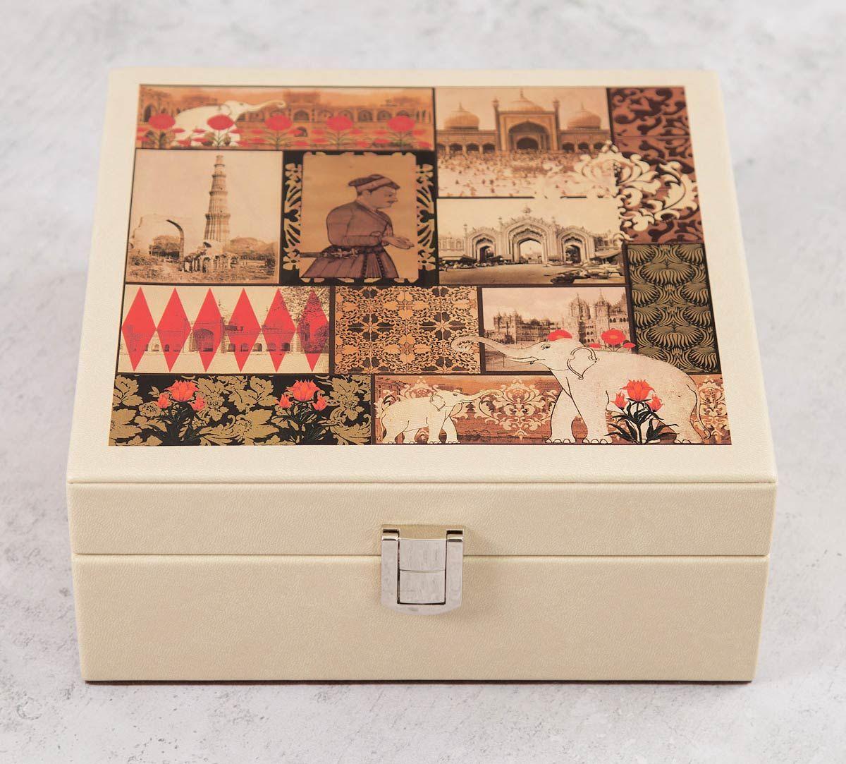 India Circus The Mughal Era Leather Jewellery Box