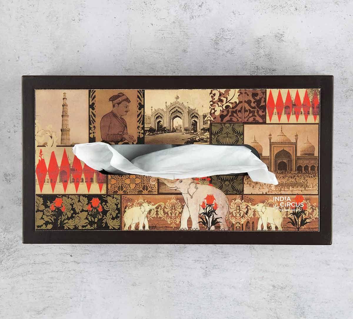 India Circus The Mughal Era MDF Tissue Box Holder