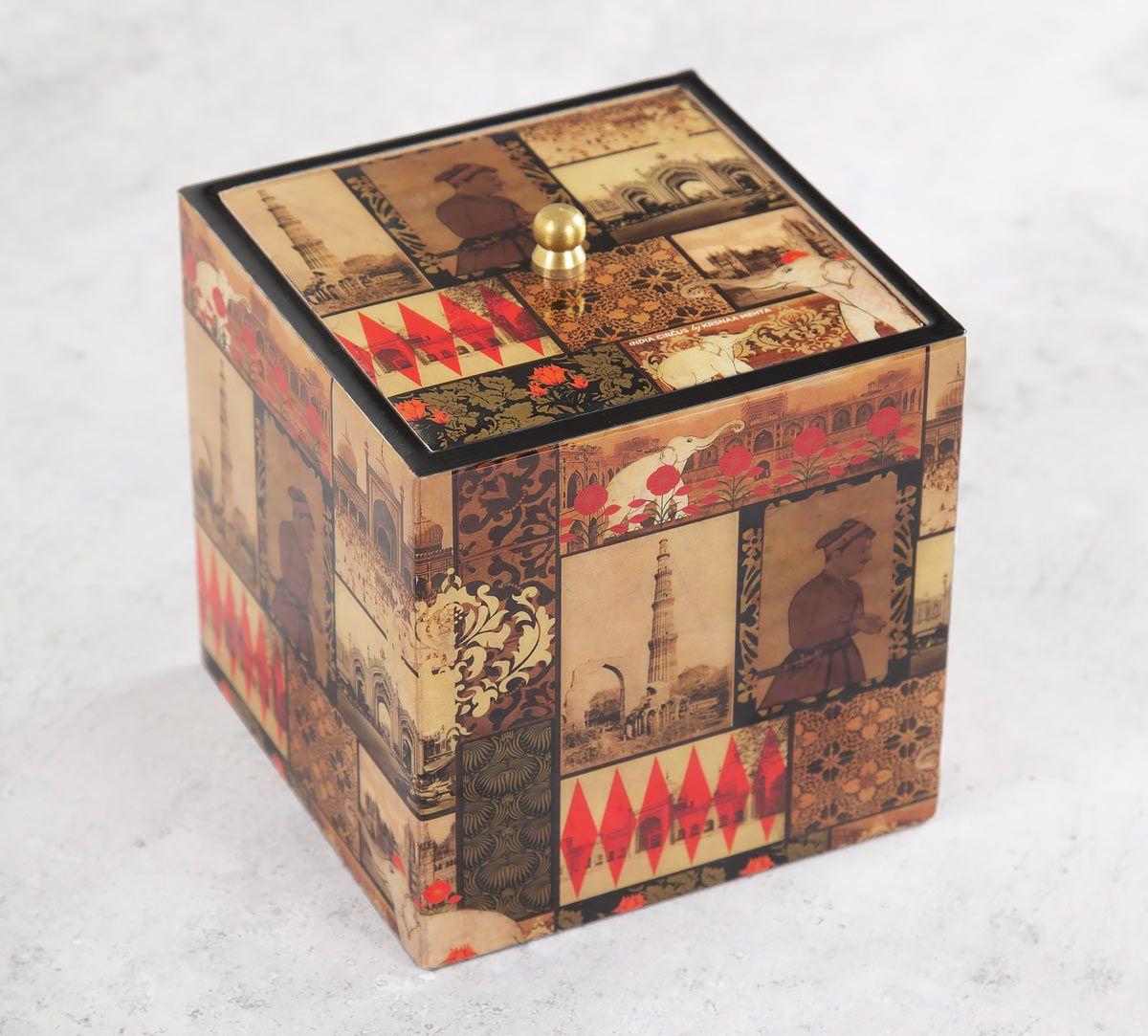 India Circus The Mughal Era Square Storage Box