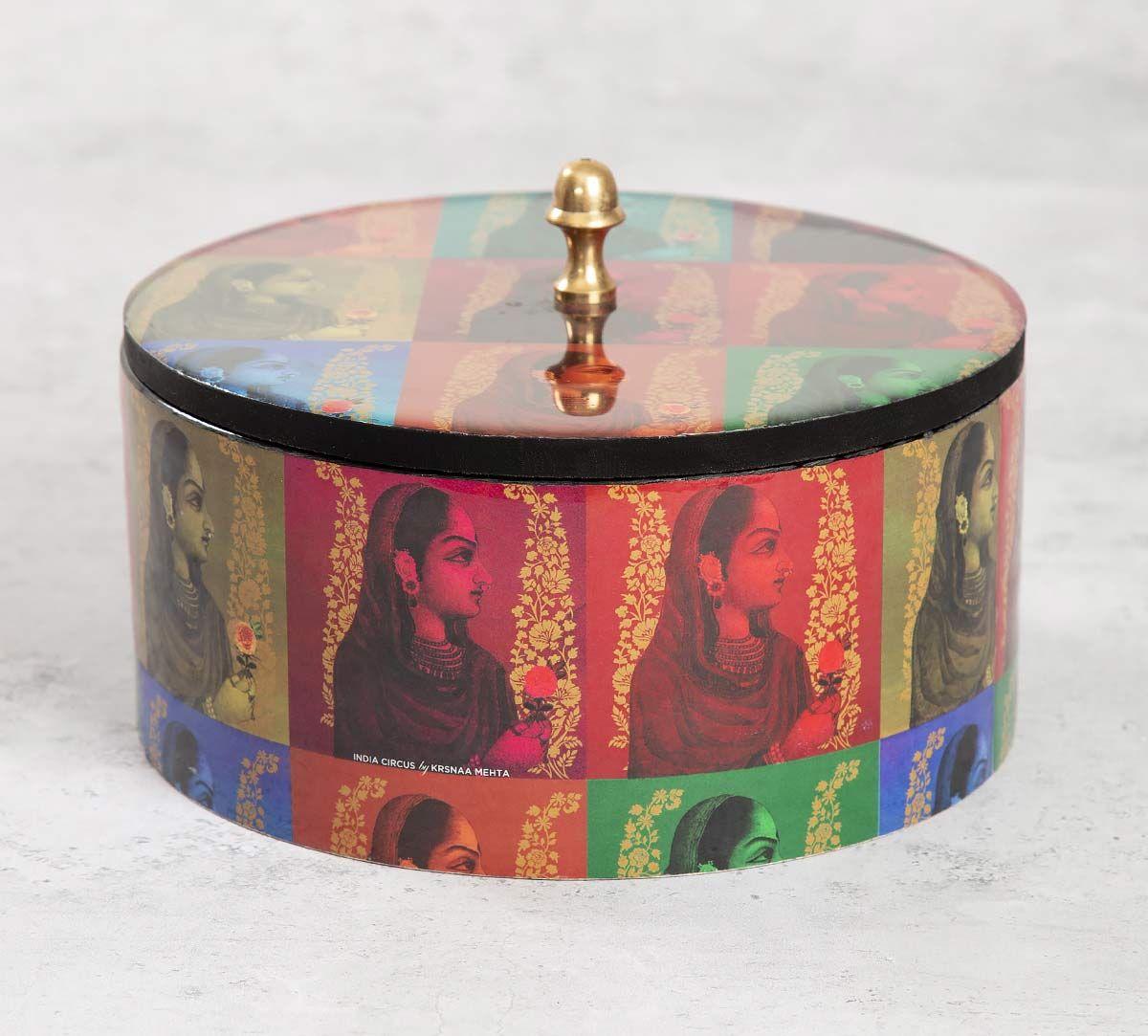 India Circus Tinted Queen Round Storage Box