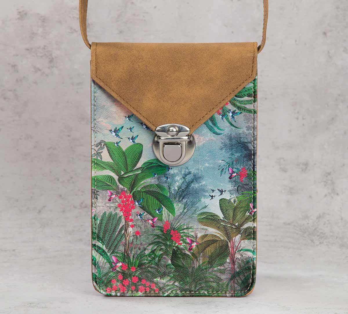 India Circus Tropical View Mobile Sling Bag