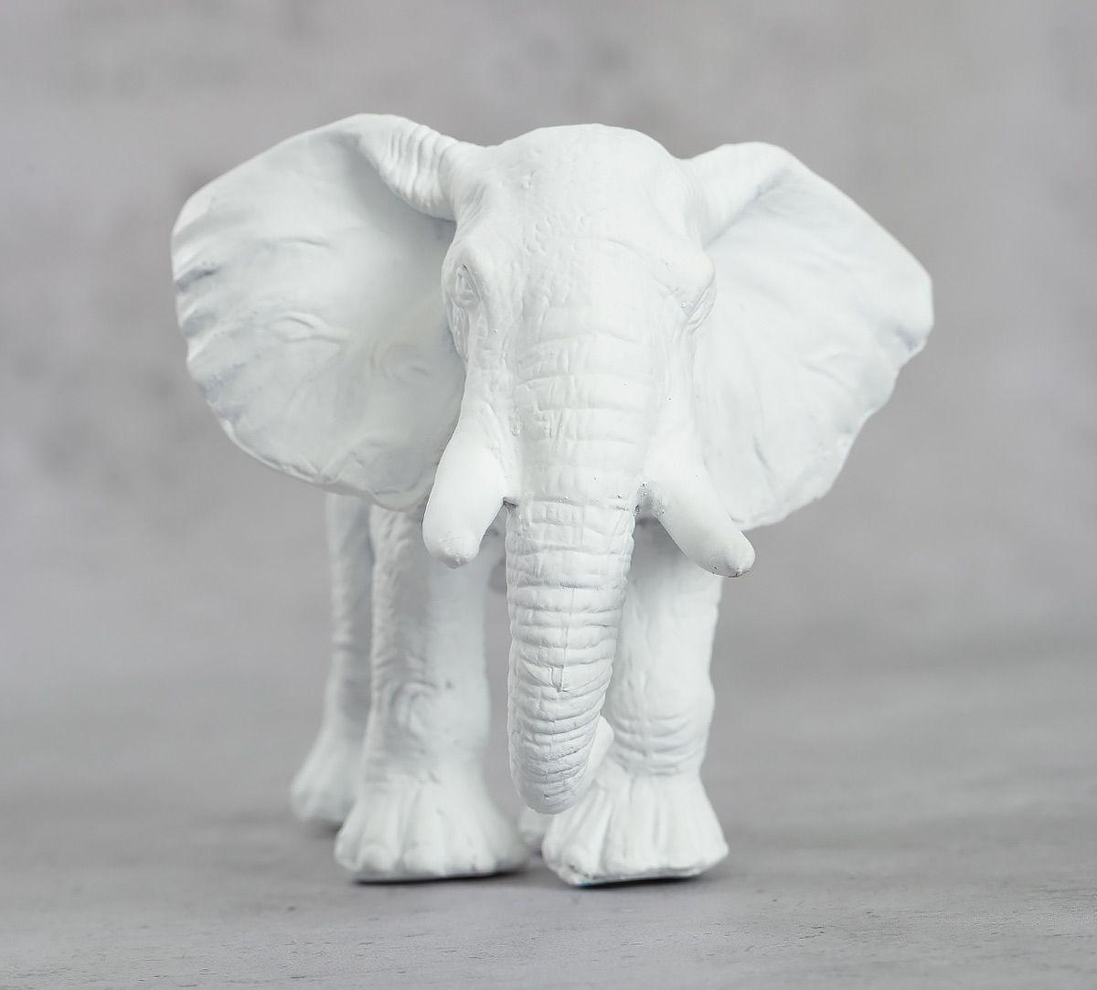 India Circus White Baby Elephant Figurine